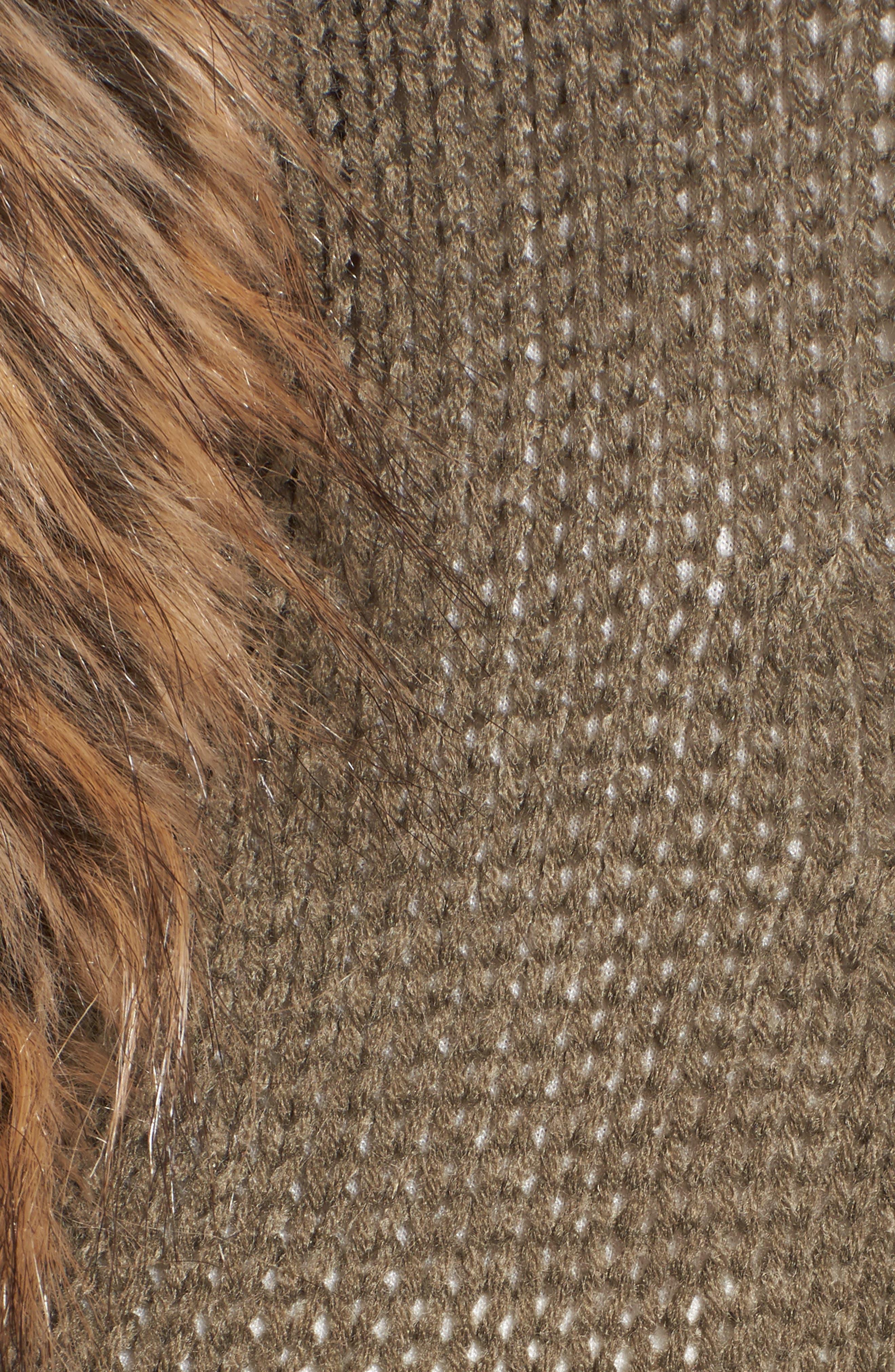 Kenn Faux Fur Trim Cardigan,                             Alternate thumbnail 5, color,                             300
