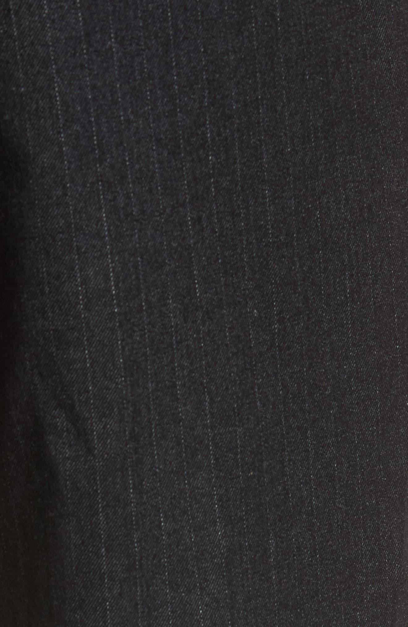 Marshall Slim Fit Pinstripe Pants,                             Alternate thumbnail 5, color,                             HEATHERED MELANGE BLACK