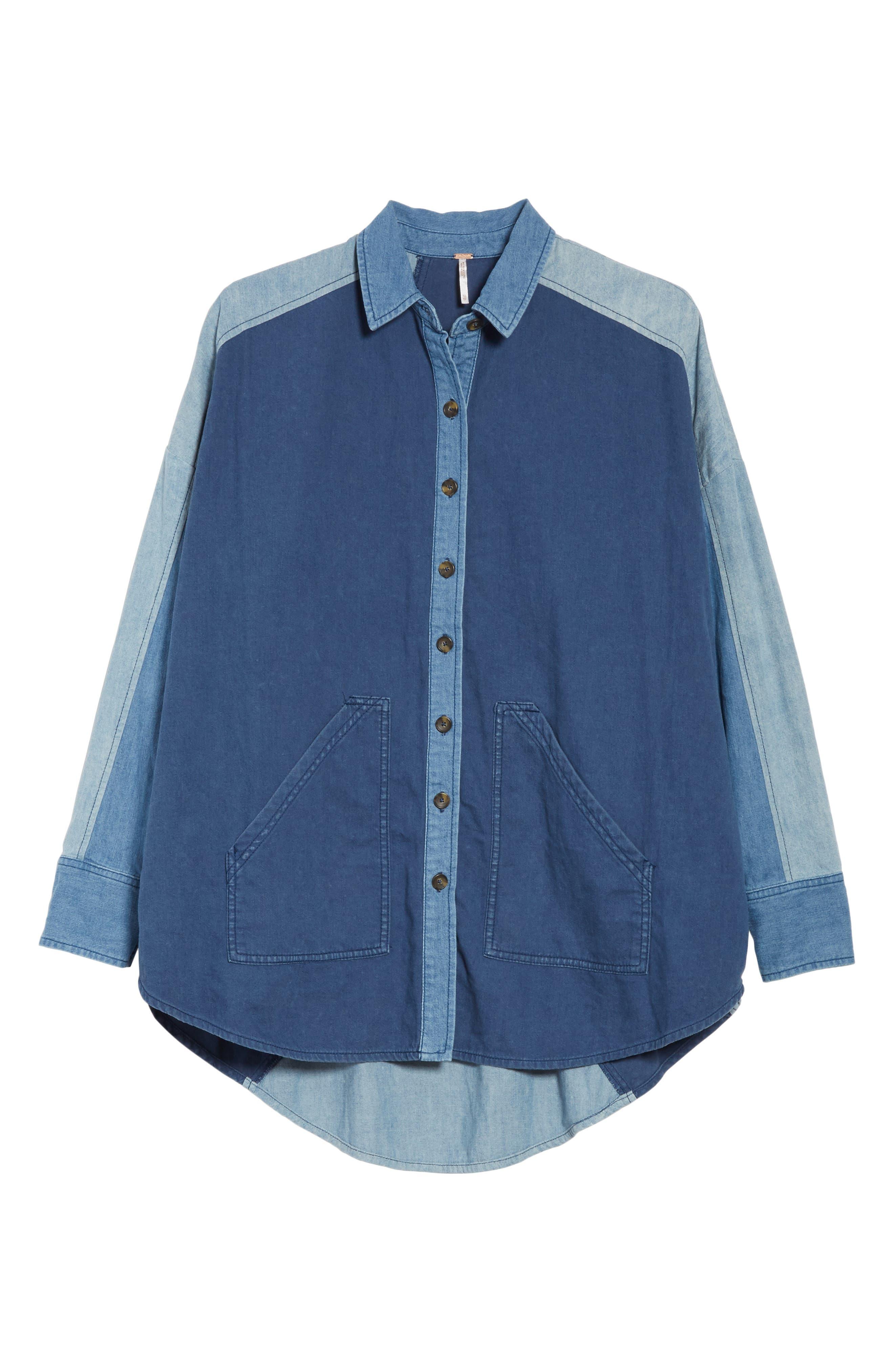 Superstar Chambray Shirt,                             Alternate thumbnail 6, color,                             400