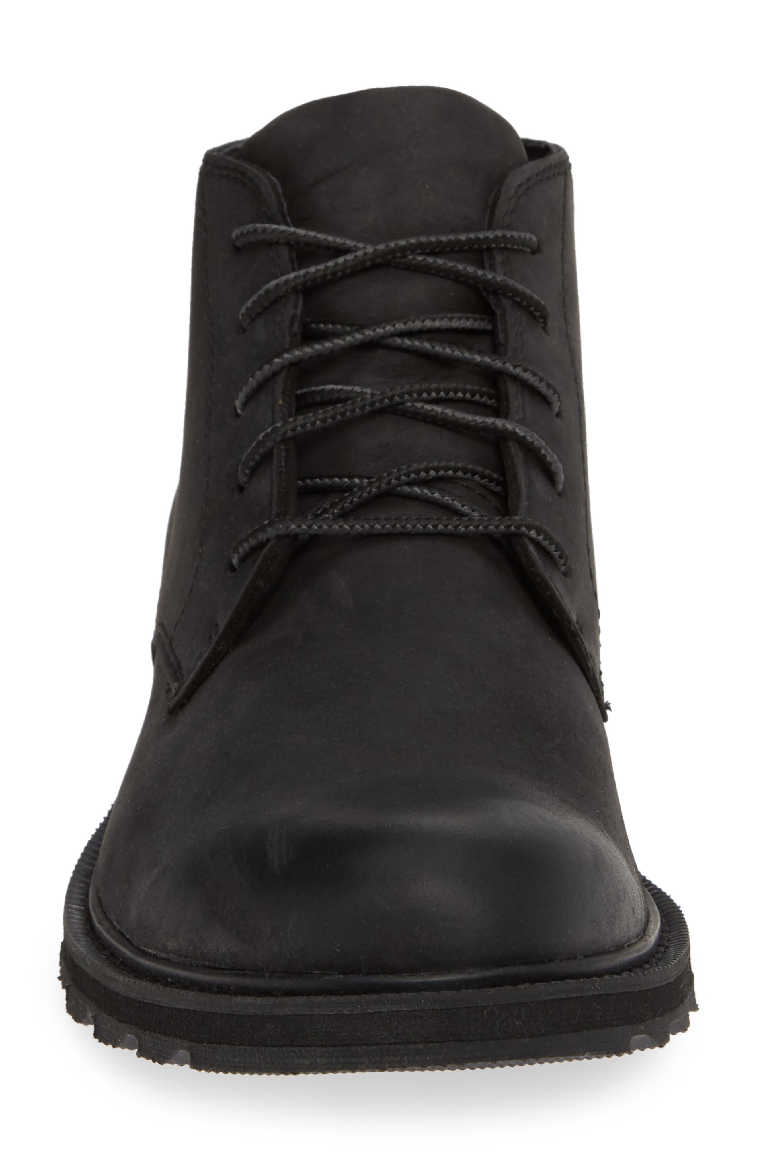 Madson Waterproof Boot,                             Alternate thumbnail 4, color,                             BLACK/ BLACK