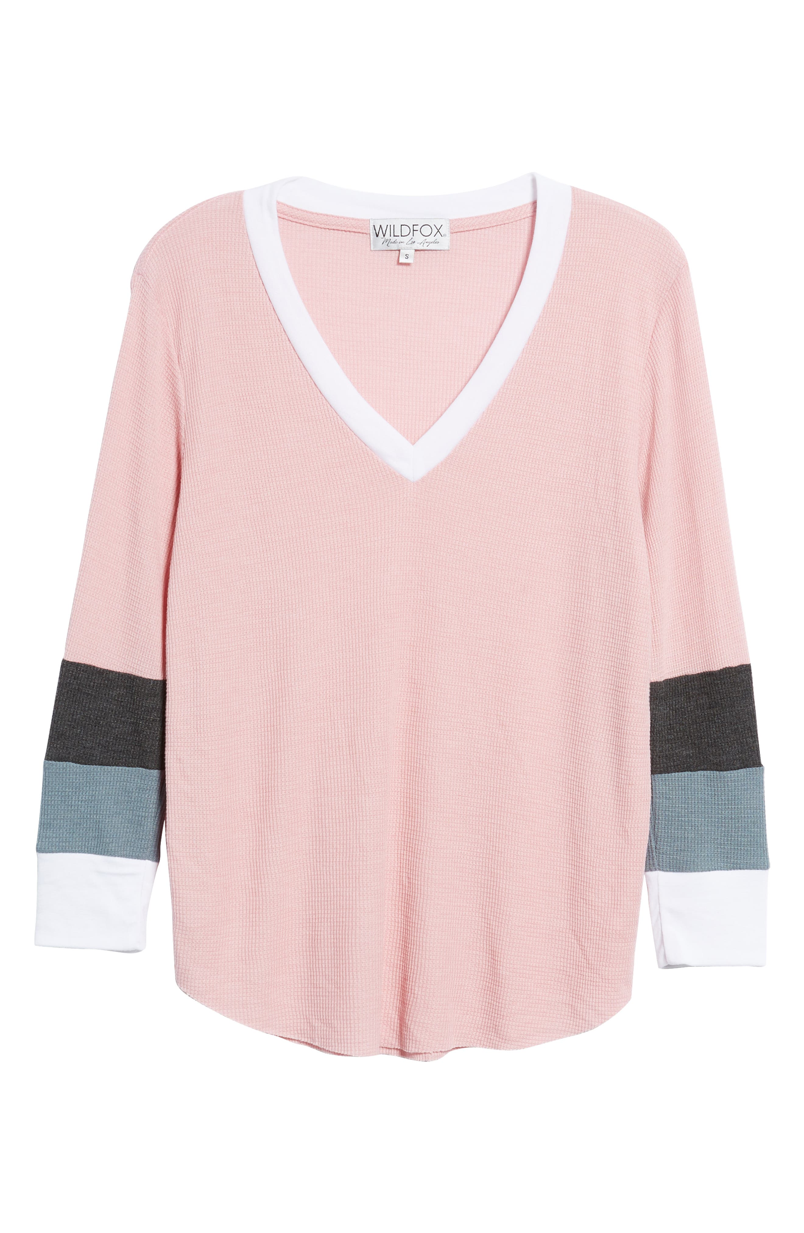 Leroy Colorblock Thermal Tee,                             Alternate thumbnail 6, color,