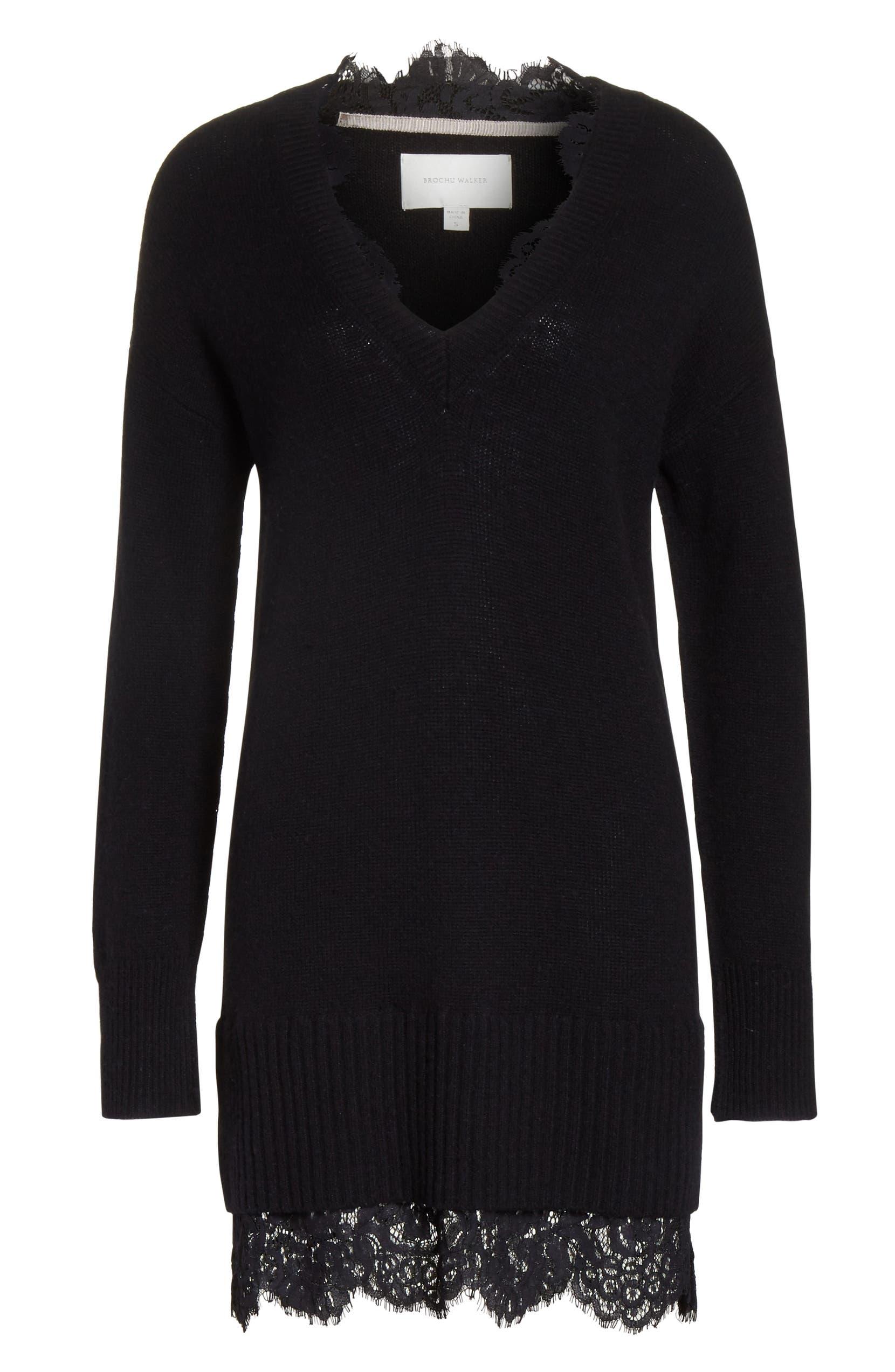 Brochu Walker Lace Looker Sweater Dress  d4170fc6b