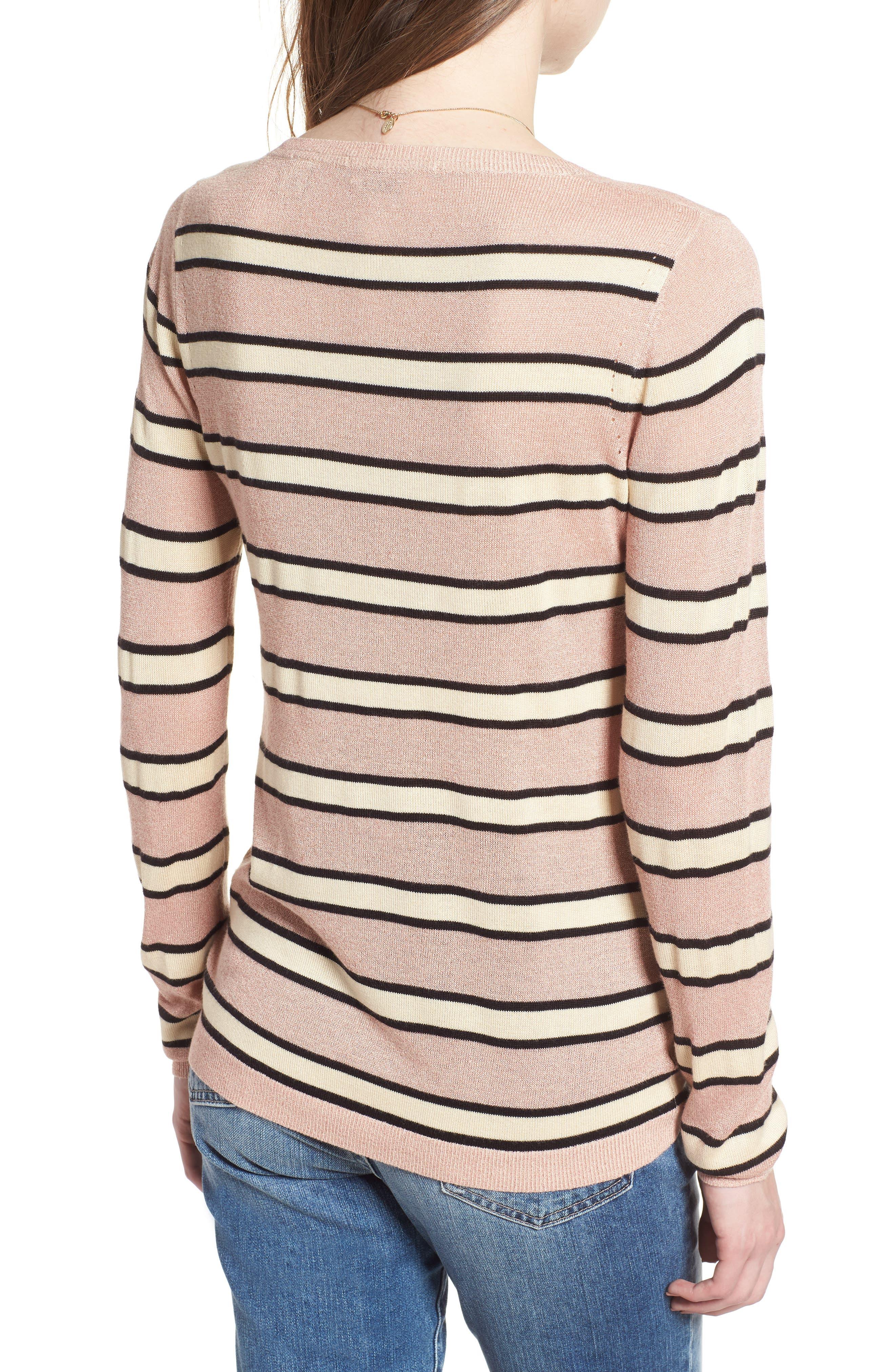 Stripe Sweater,                             Alternate thumbnail 2, color,                             650