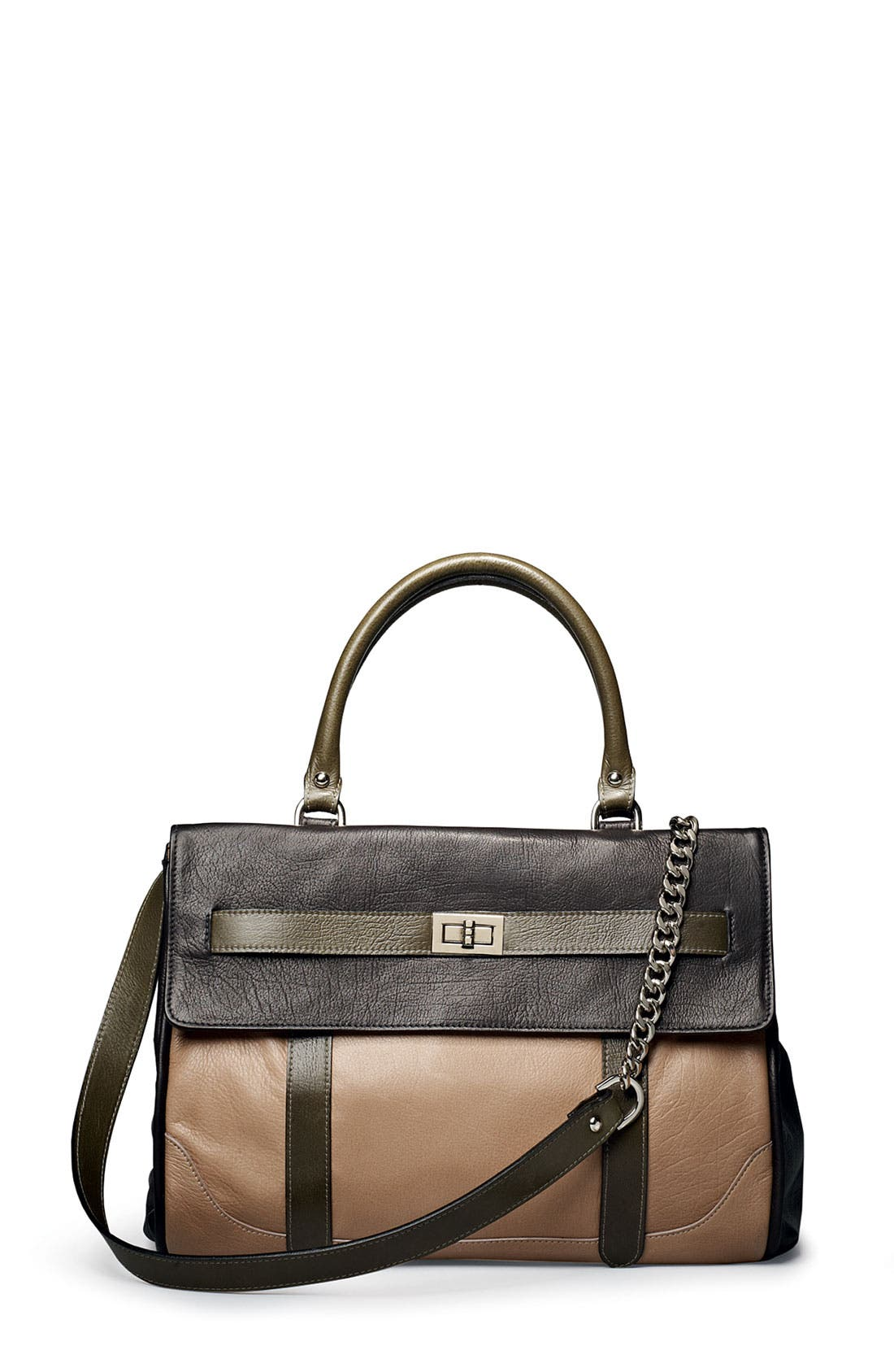 ROCCATELLA,                             'Jane' Belted Leather Satchel,                             Alternate thumbnail 2, color,                             001