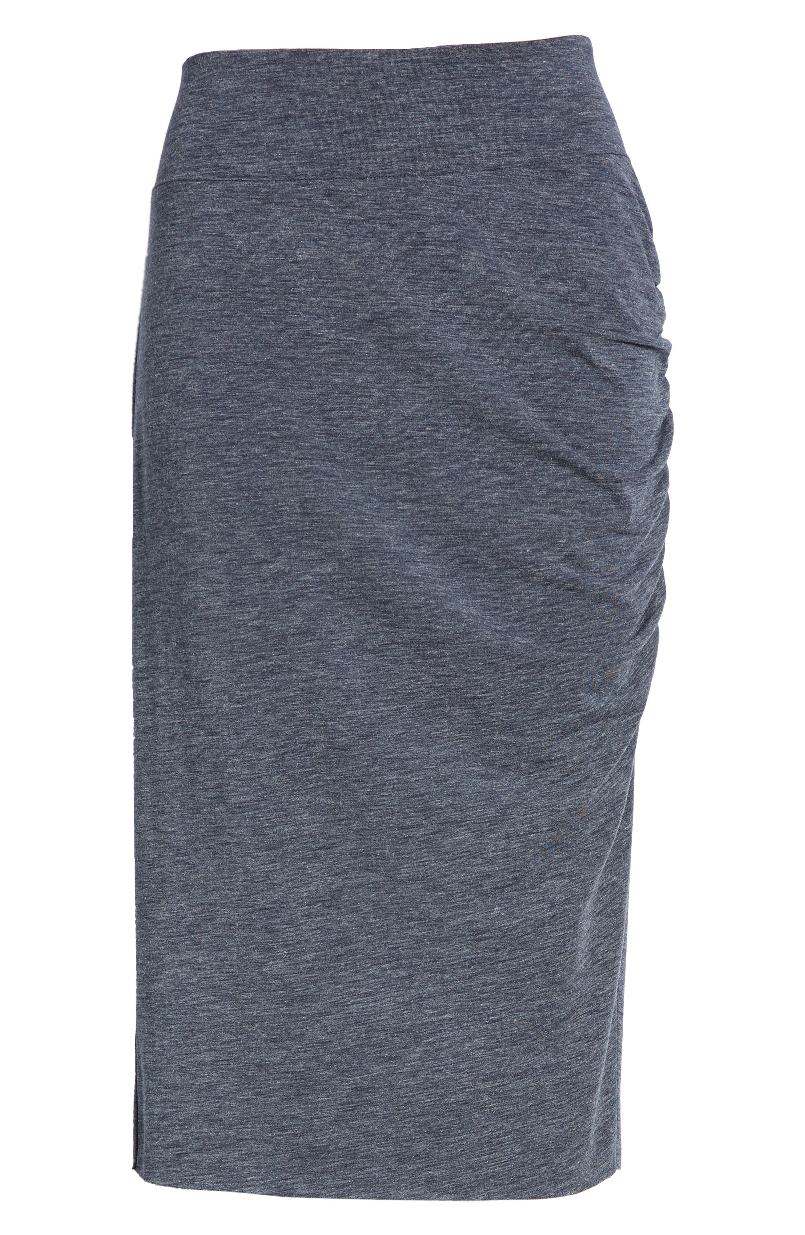Ruched Knit Midi Skirt,                             Alternate thumbnail 12, color,