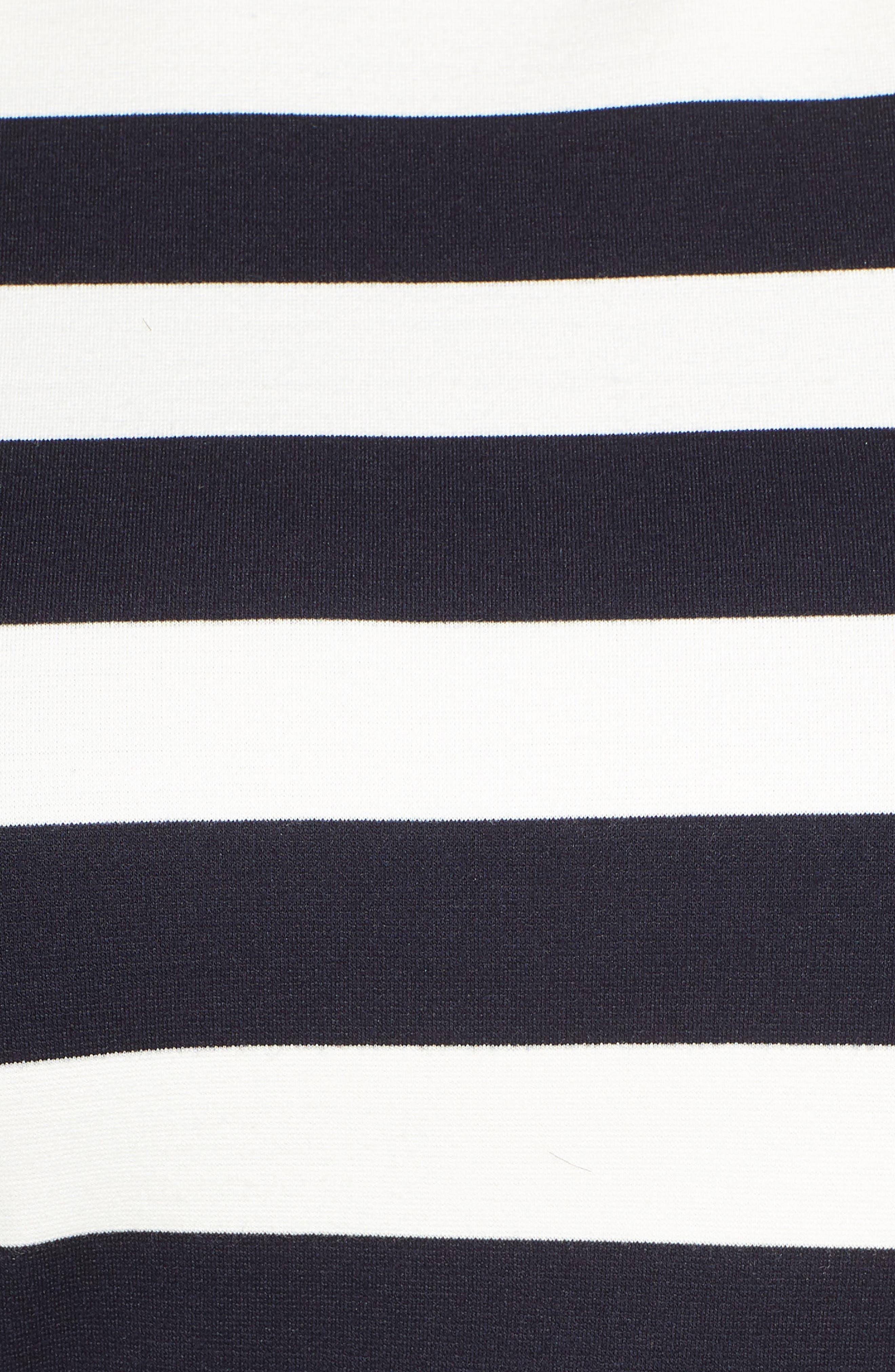 1901,                             Stripe Ponte Crop Jumpsuit,                             Alternate thumbnail 6, color,                             BLUE WHITE STRIPE