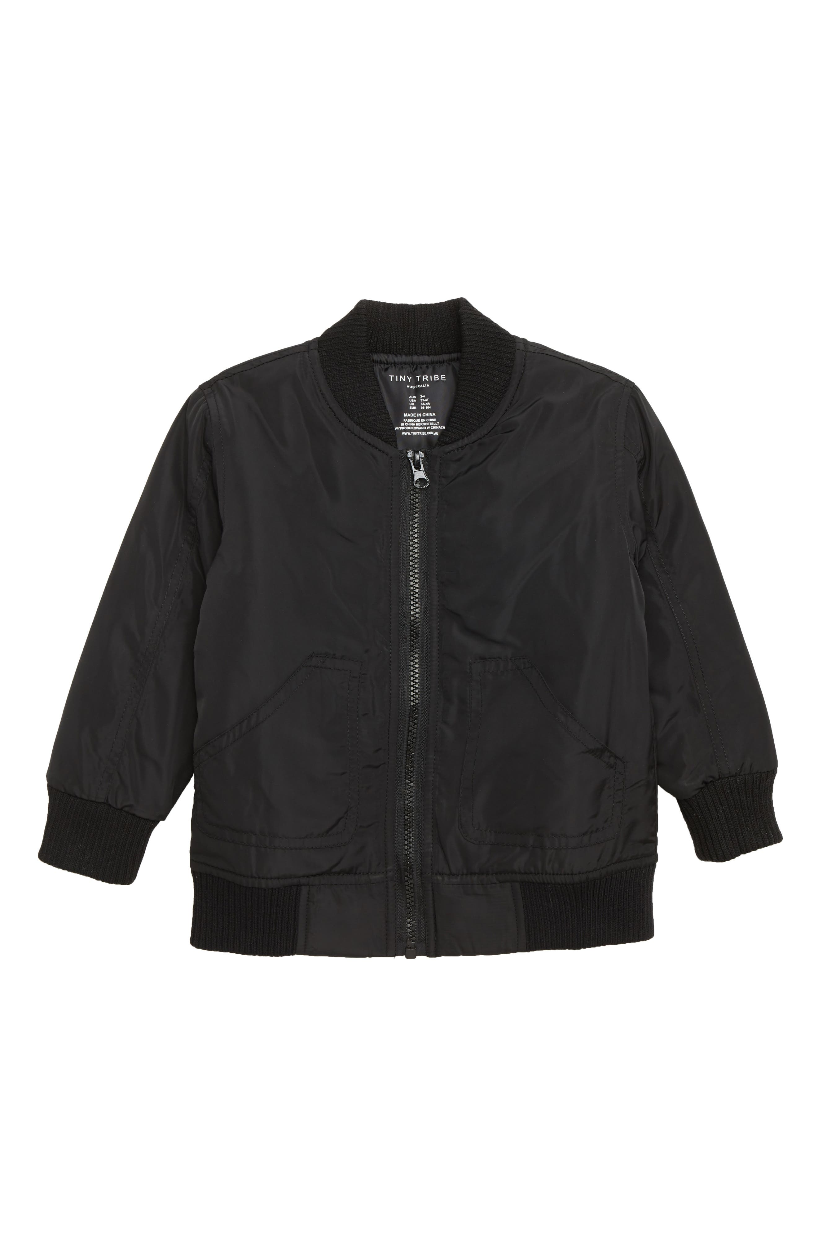 Laters Bomber Jacket,                         Main,                         color, BLACK