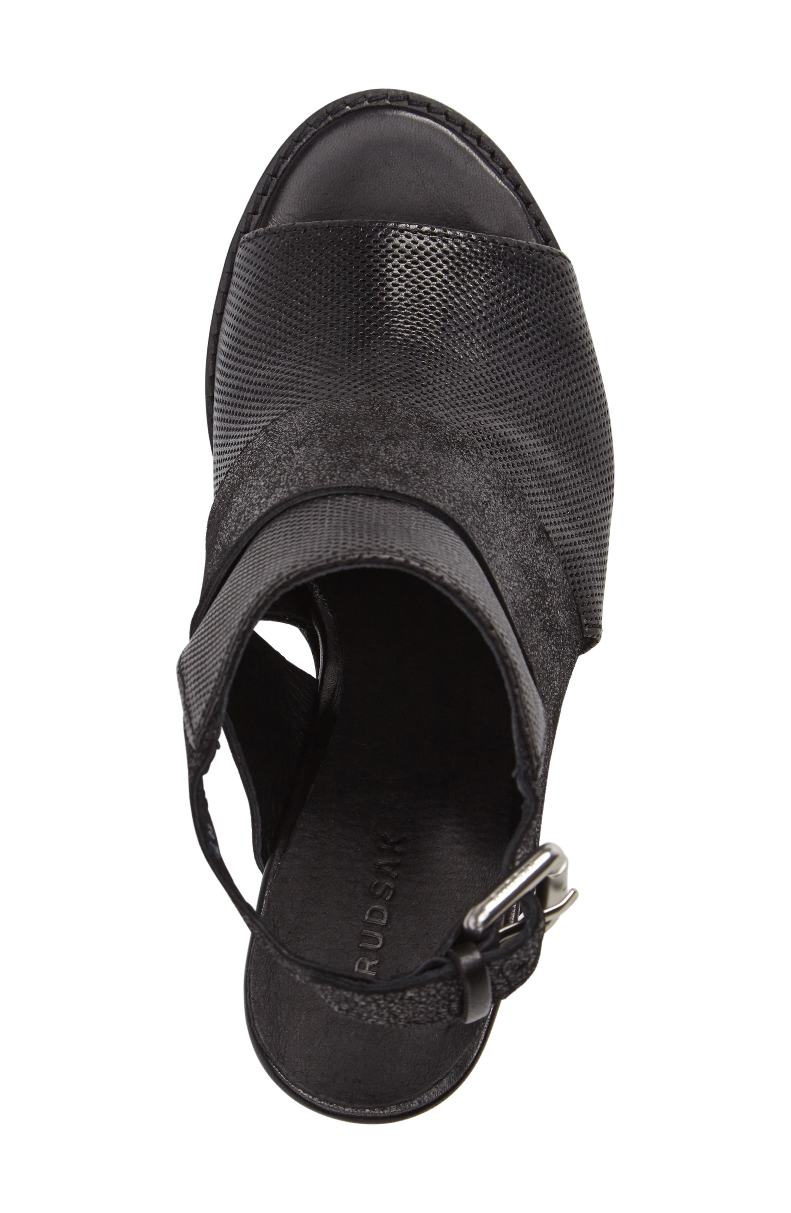 Brittni Block Heel Sandal,                             Alternate thumbnail 5, color,                             001