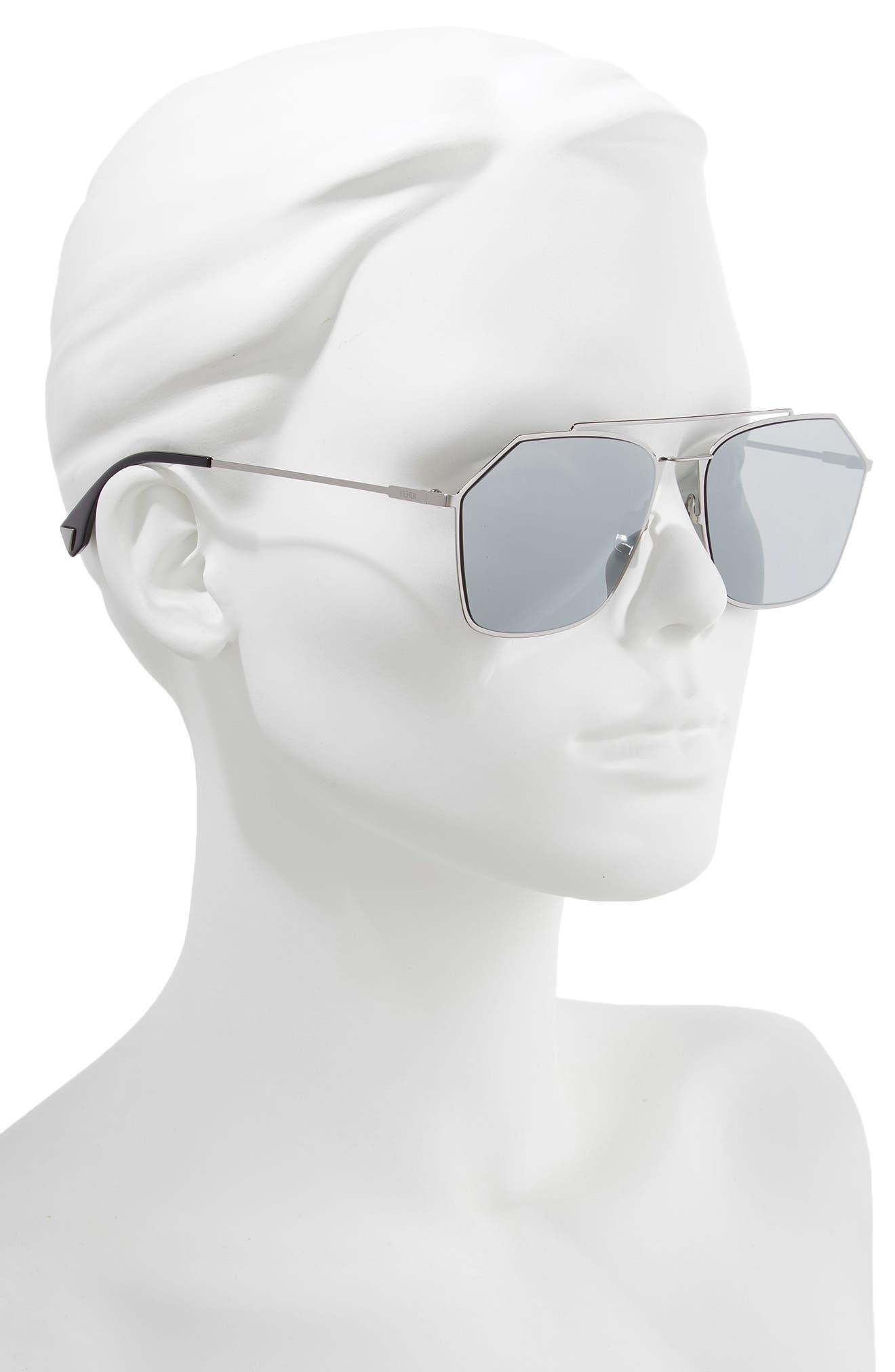 59mm Navigator Sunglasses,                             Alternate thumbnail 2, color,                             RUTHENIUM