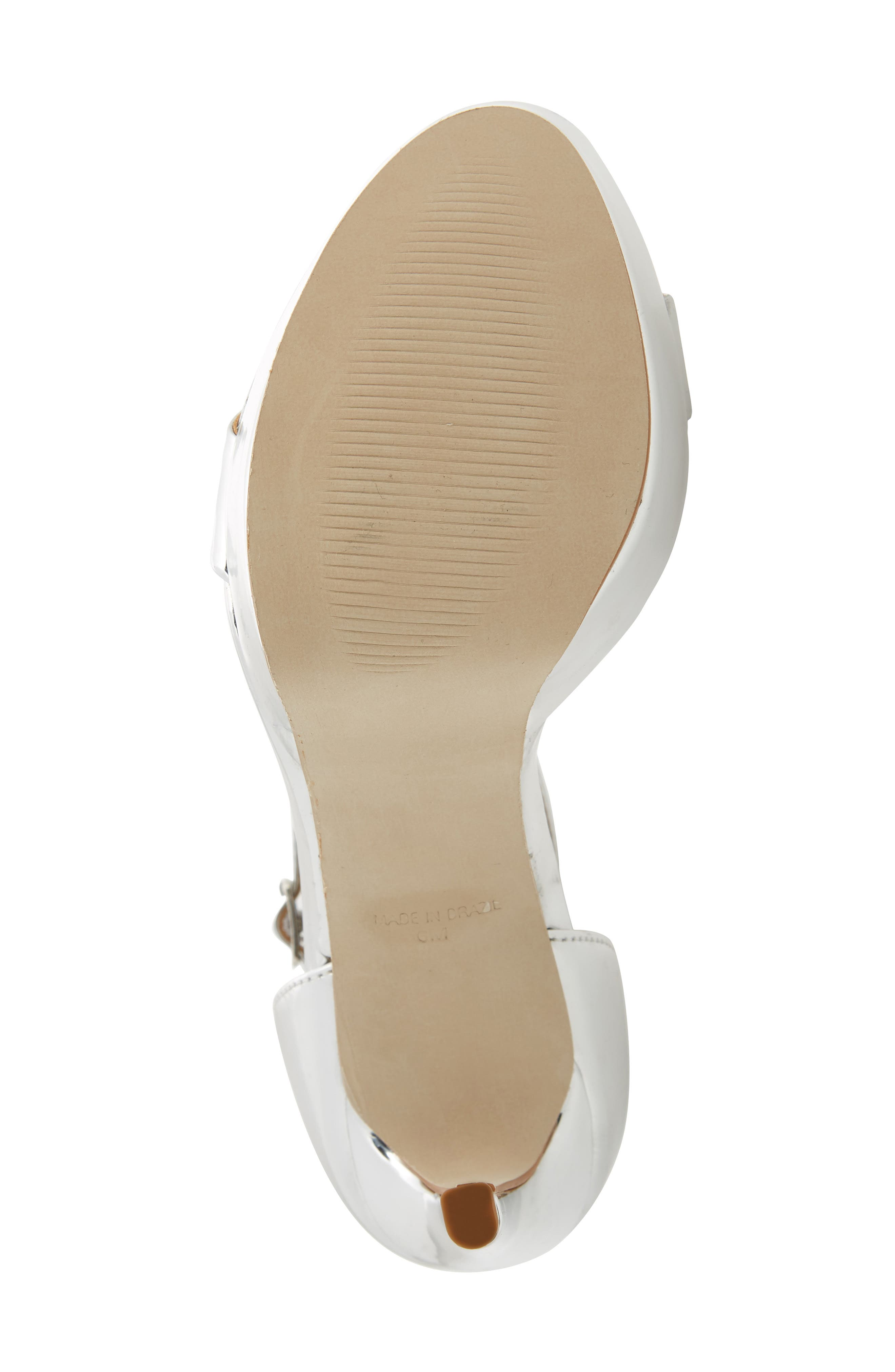 Starlet Platform Sandal,                             Alternate thumbnail 6, color,                             SILVER METAL