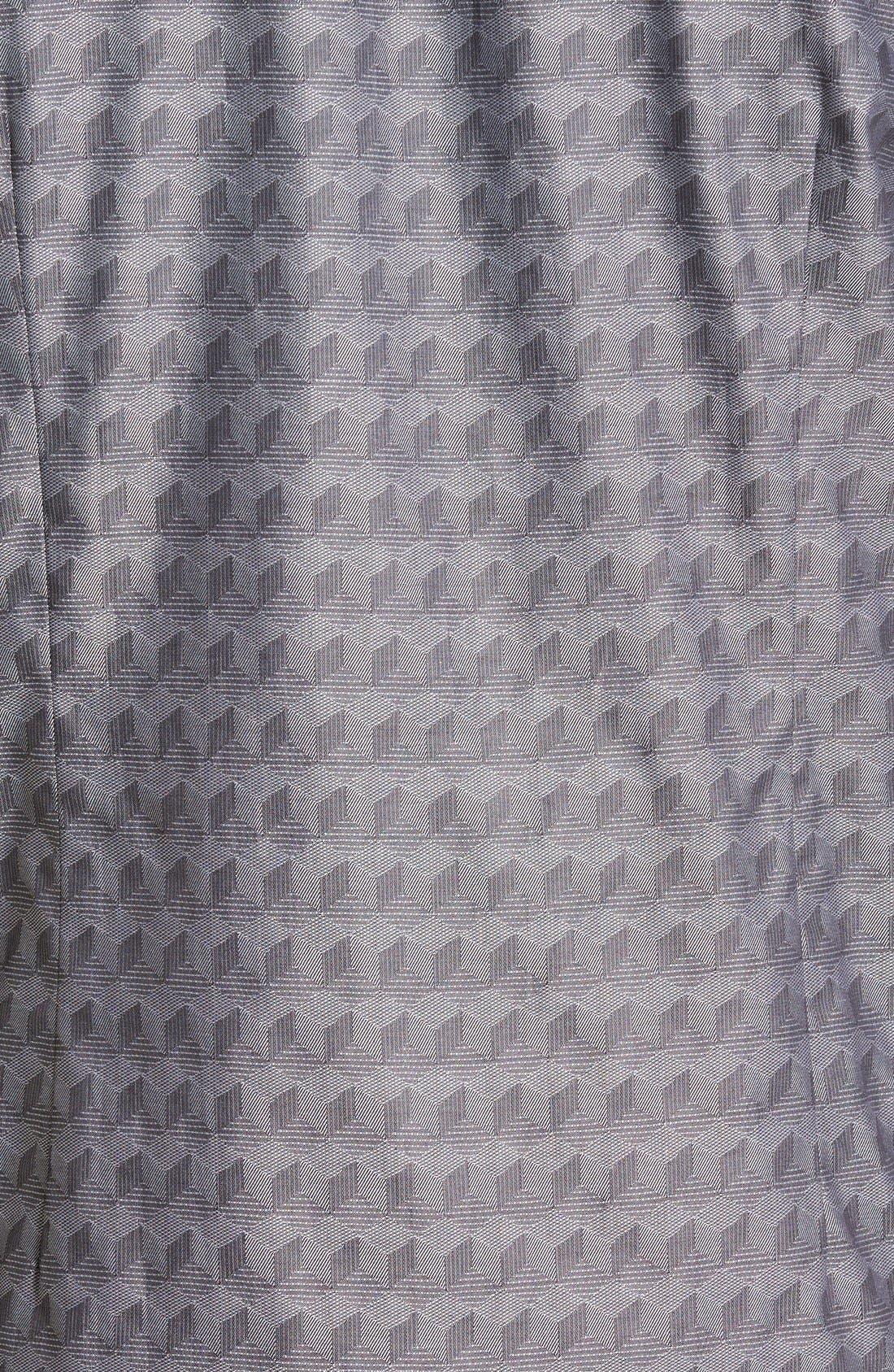 'Chaymo' Modern Slim Fit Geometric Chambray Sport Shirt,                             Alternate thumbnail 3, color,                             001