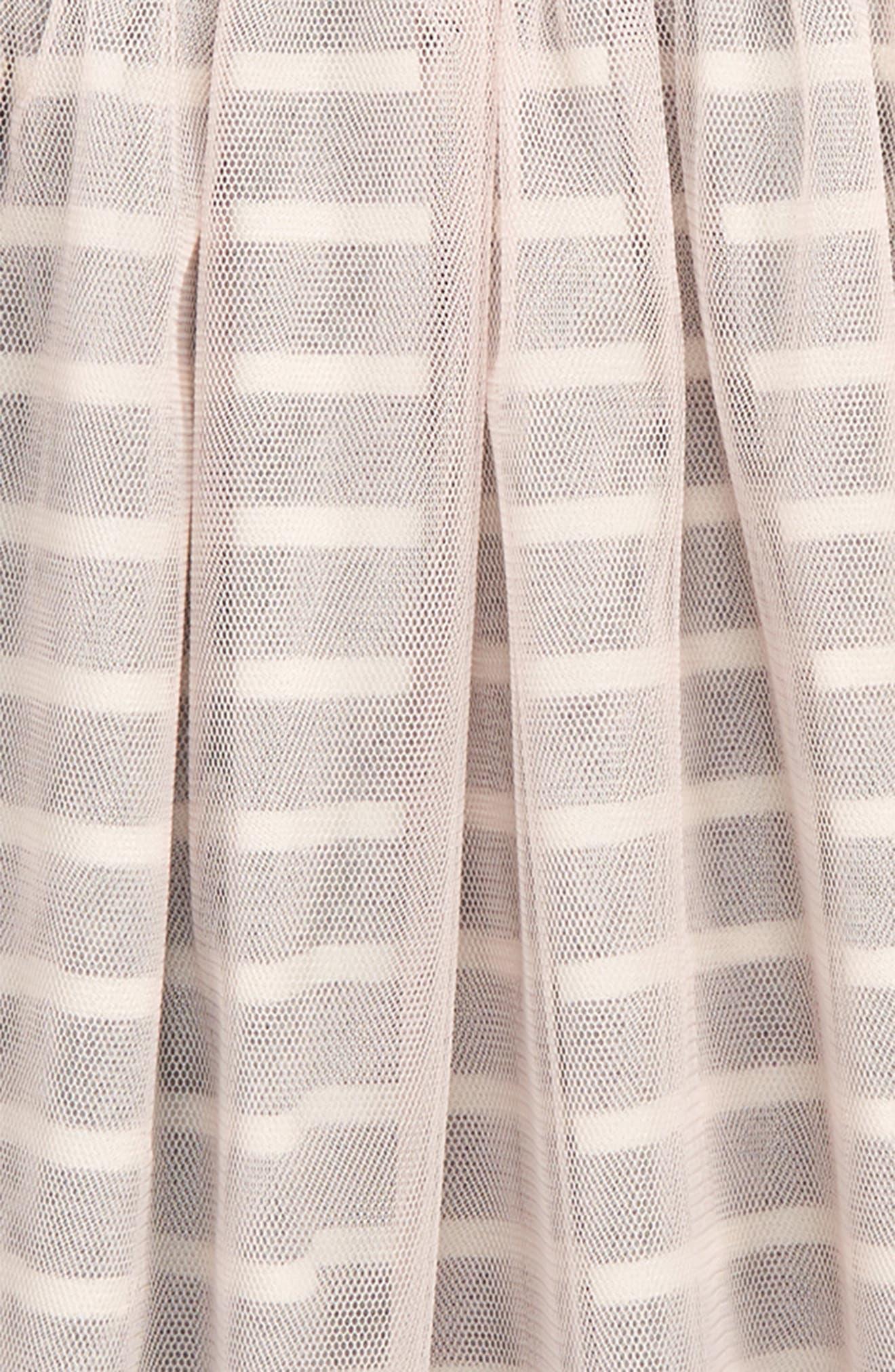 Stripe Tulle Skirt,                             Alternate thumbnail 2, color,                             ROSADA