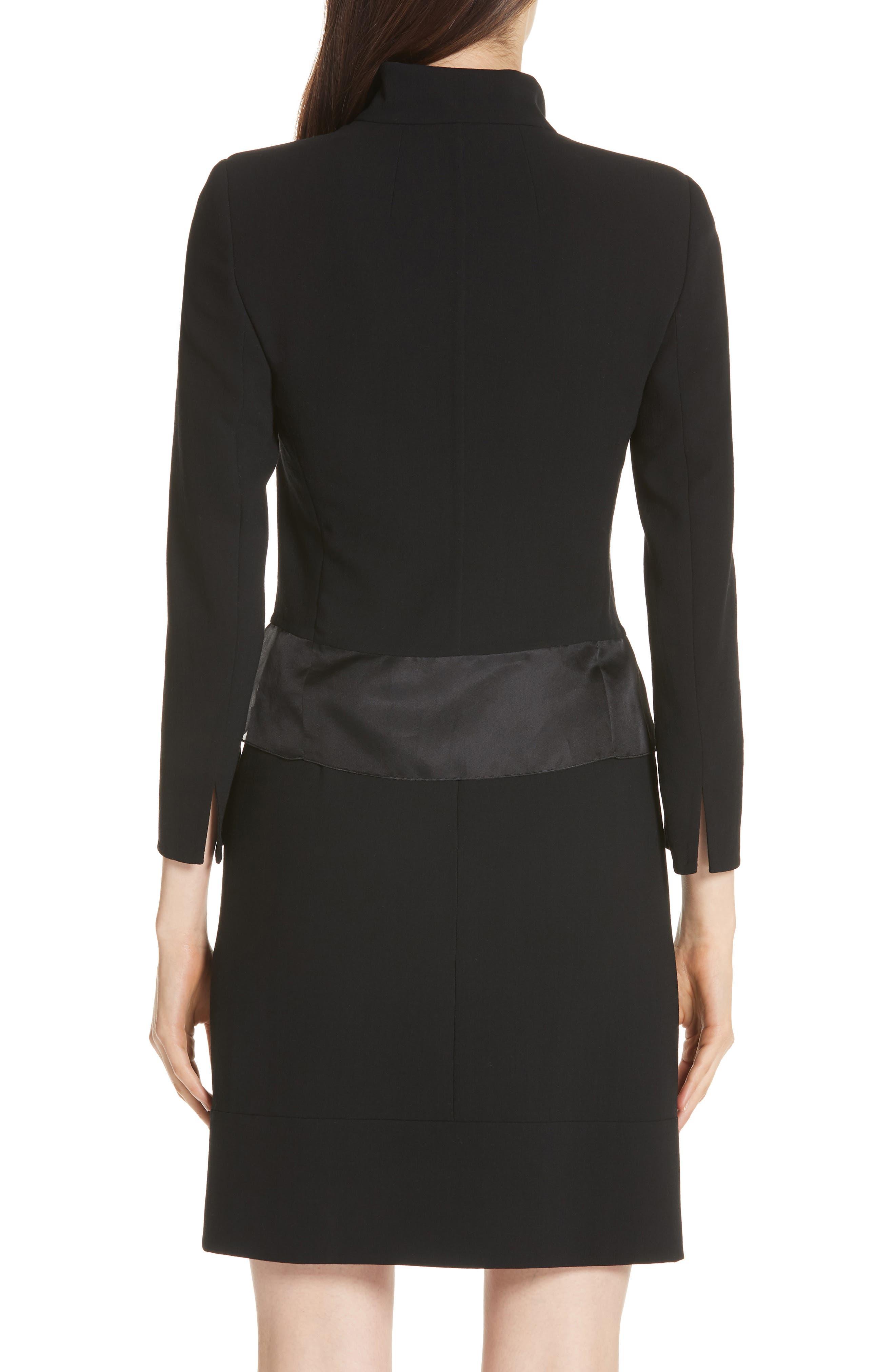 Ilke Double Face Wool Blend Jacket,                             Alternate thumbnail 2, color,                             BLACK
