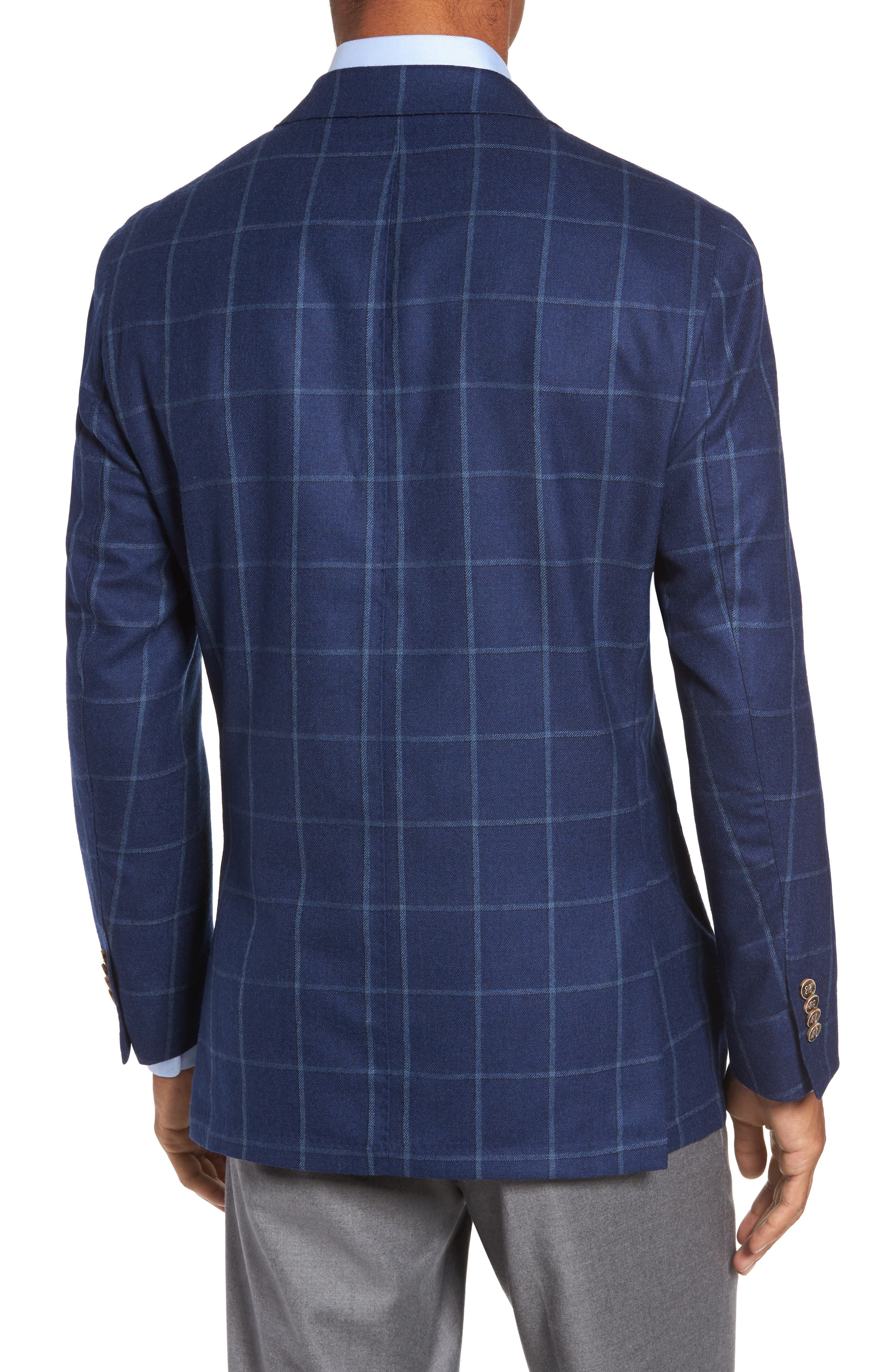 Windowpane Wool Blazer,                             Alternate thumbnail 2, color,