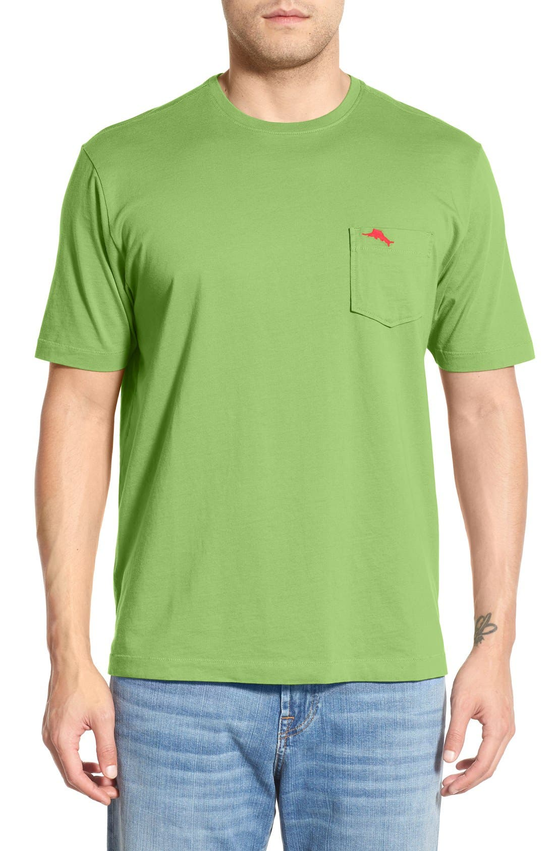 New Bali Sky Pima Cotton Pocket T-Shirt,                             Main thumbnail 14, color,