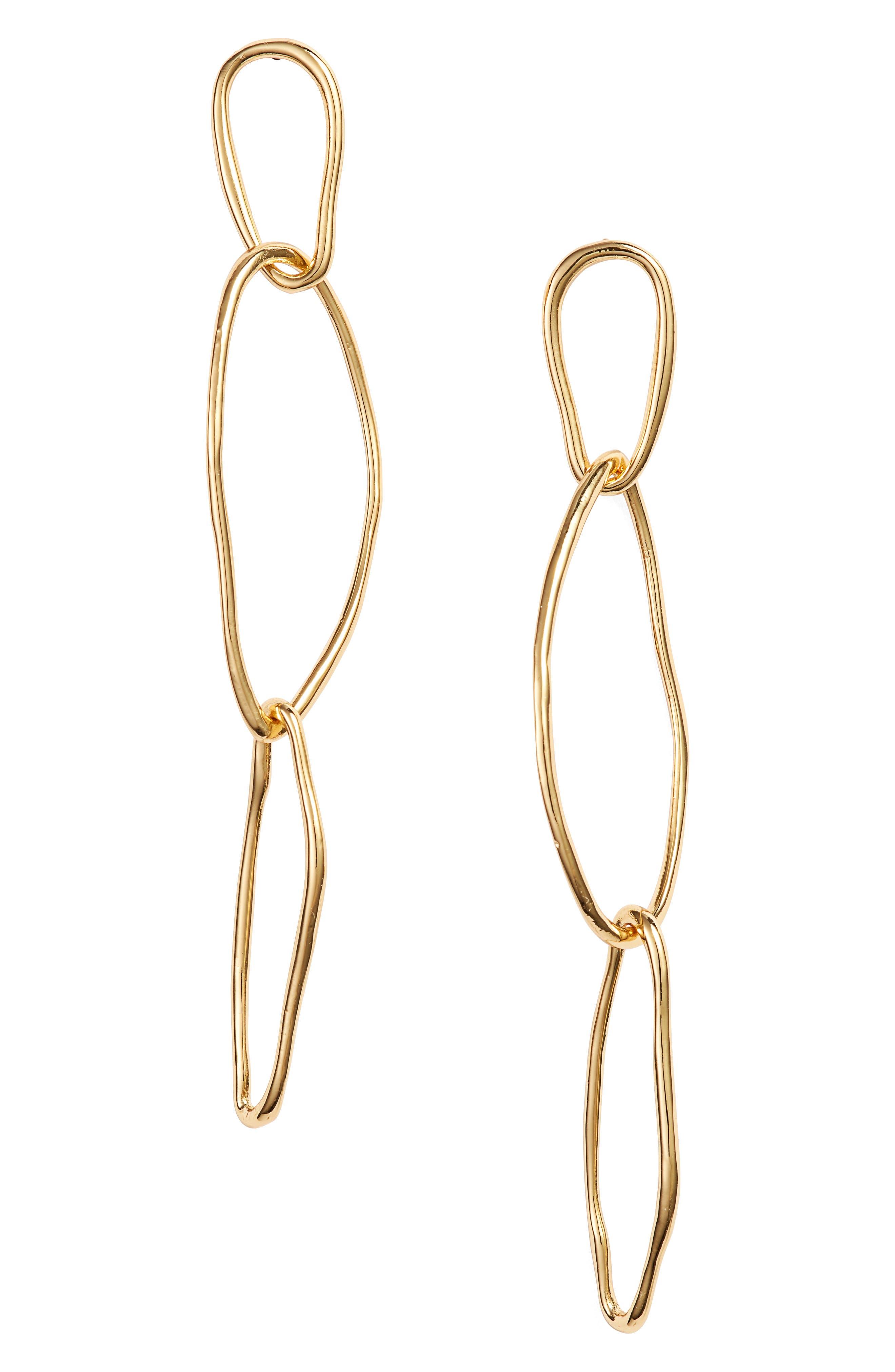 Rowan Drop Earrings,                         Main,                         color, GOLD