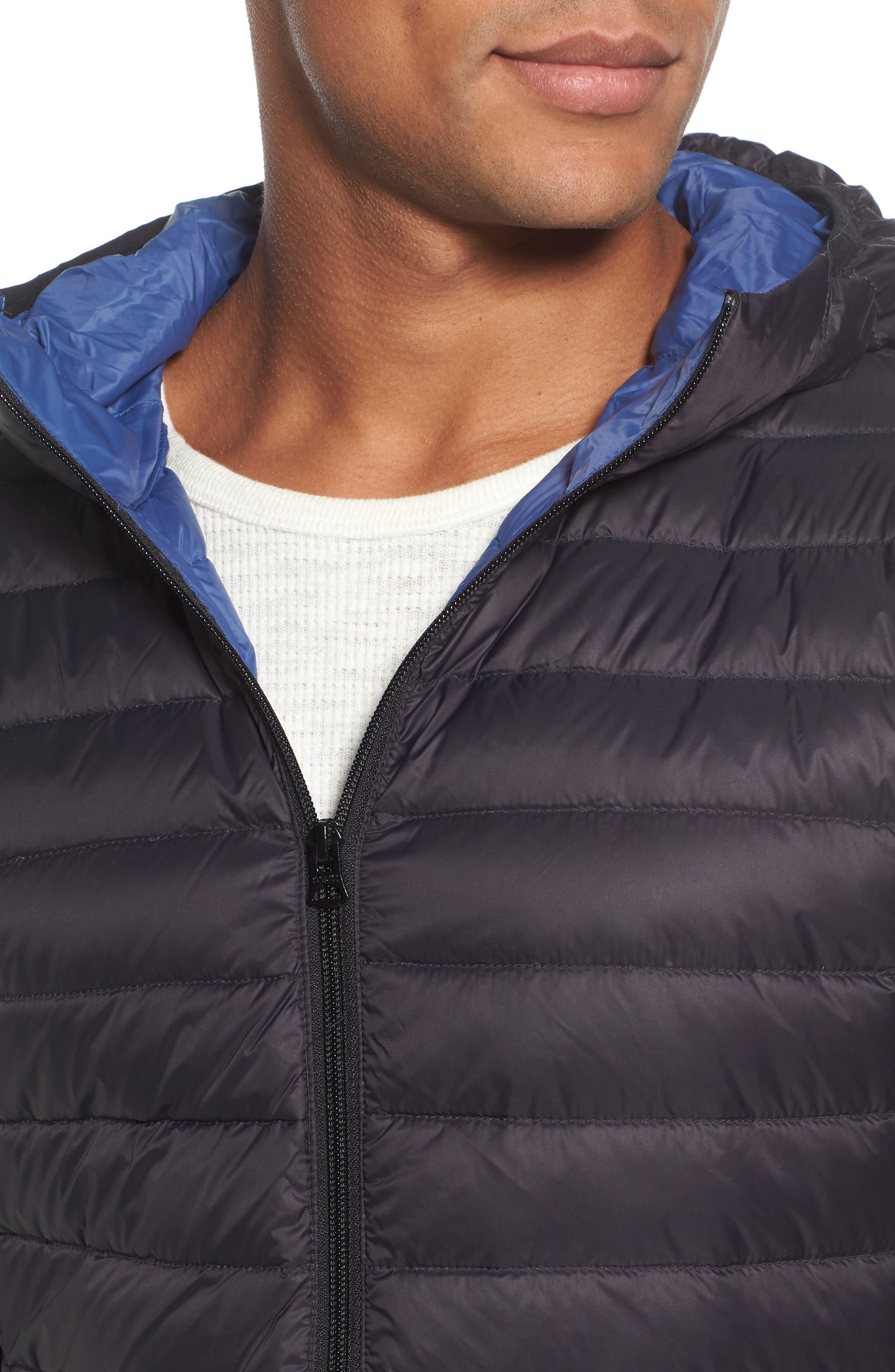 Zip Front Down Jacket,                             Alternate thumbnail 4, color,                             001
