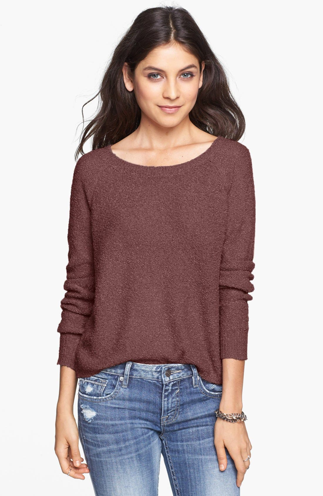 'Grunge' Textured Sweater,                             Main thumbnail 8, color,