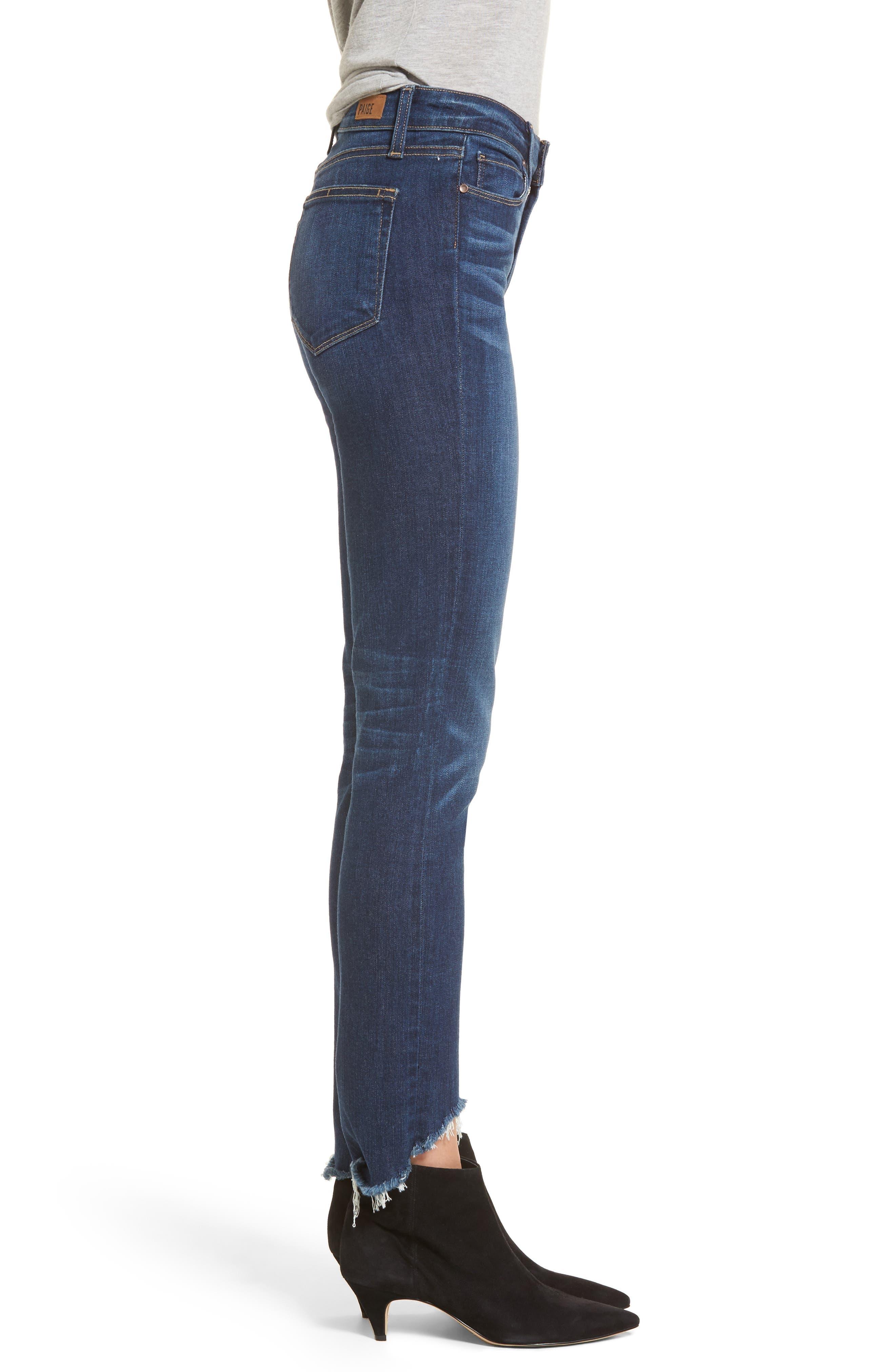 Transcend Vintage - Hoxton High Waist Ankle Skinny Jeans,                             Alternate thumbnail 3, color,