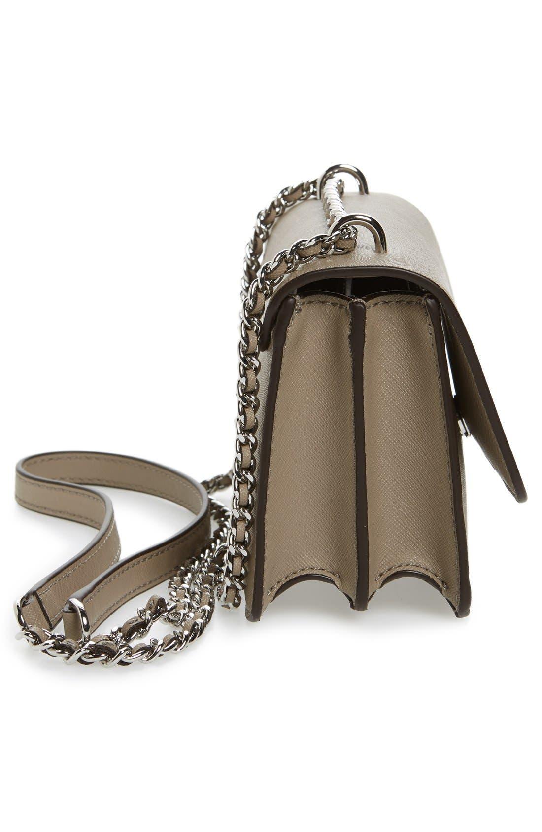 Mini Robinson Convertible Leather Shoulder Bag,                             Alternate thumbnail 6, color,                             036
