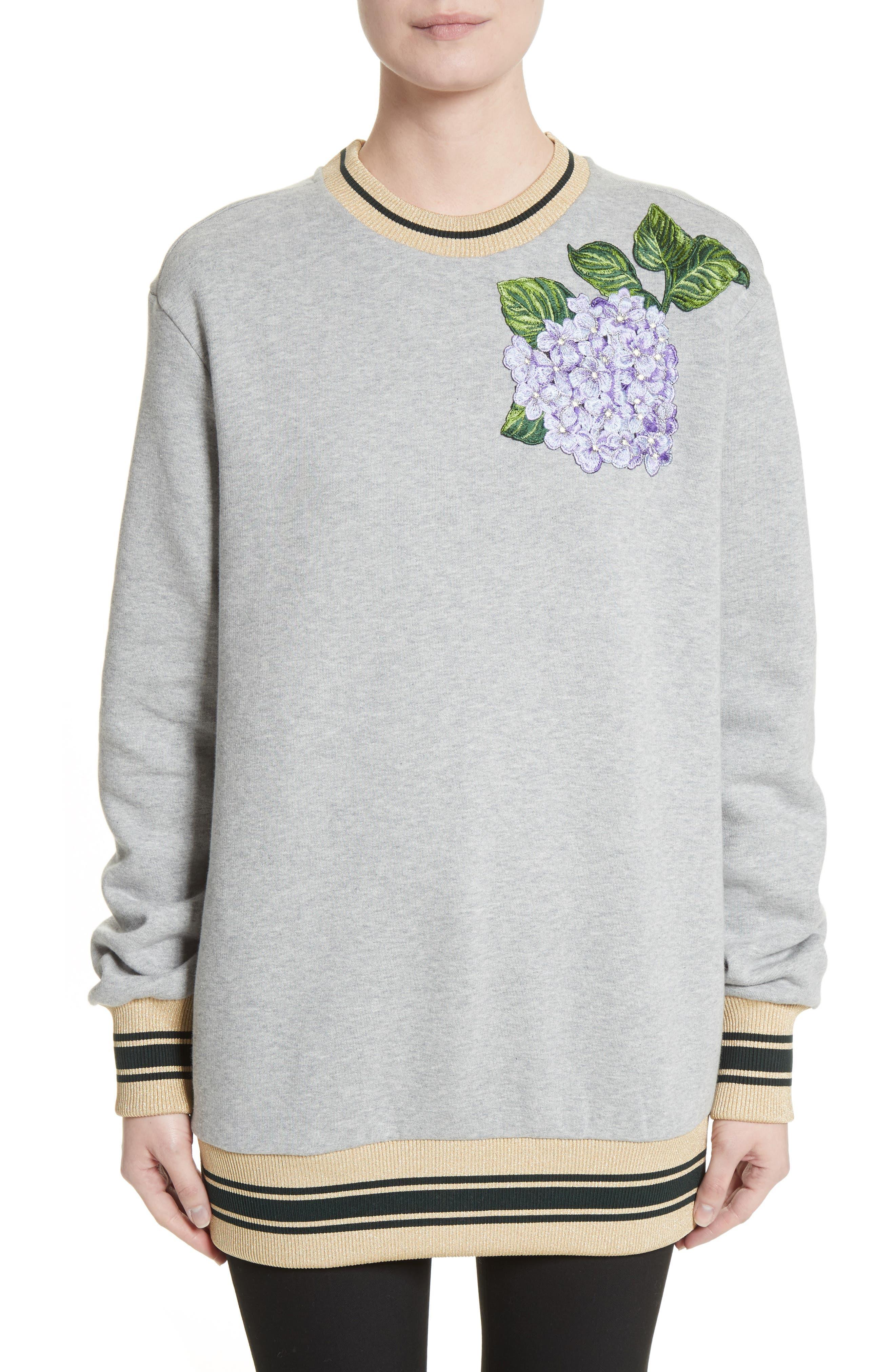 Hydrangea Patch Sweatshirt,                         Main,                         color, 050