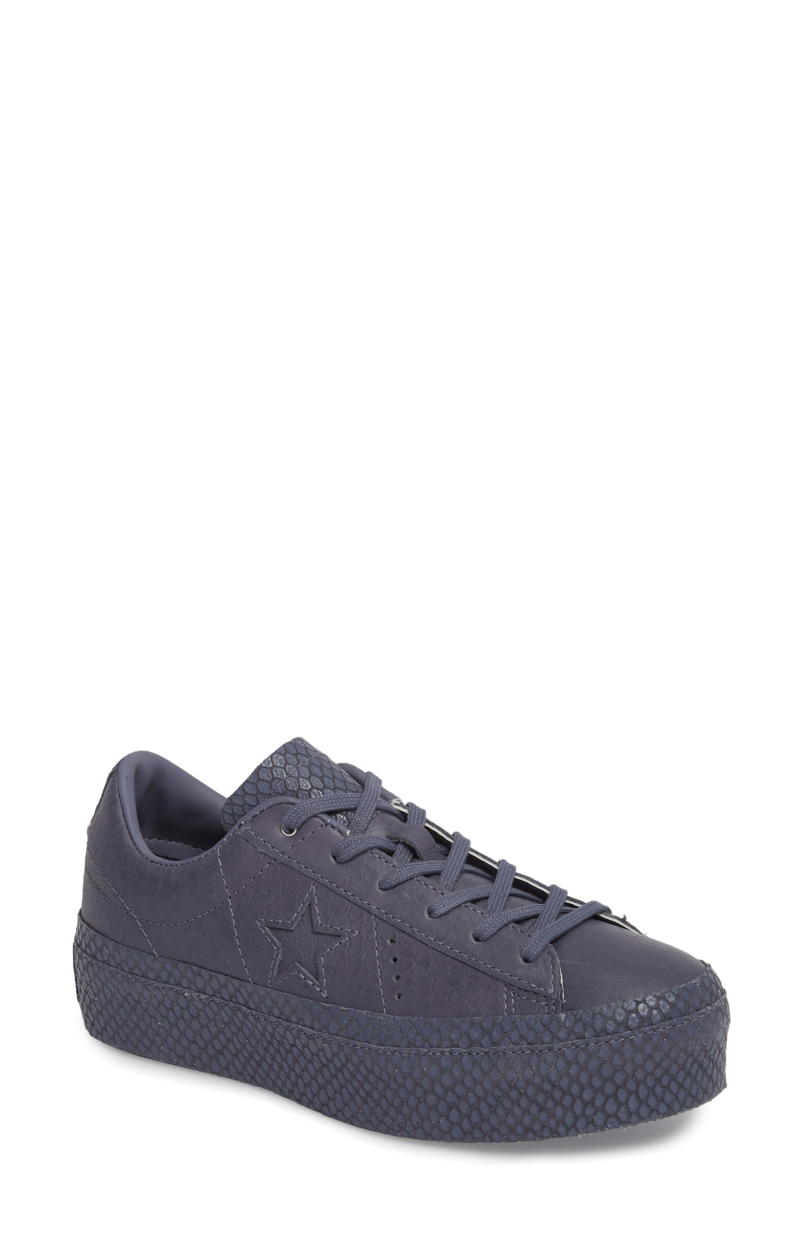 Chuck Taylor<sup>®</sup> All Star<sup>®</sup> One Star Platform Sneaker,                             Main thumbnail 1, color,                             450