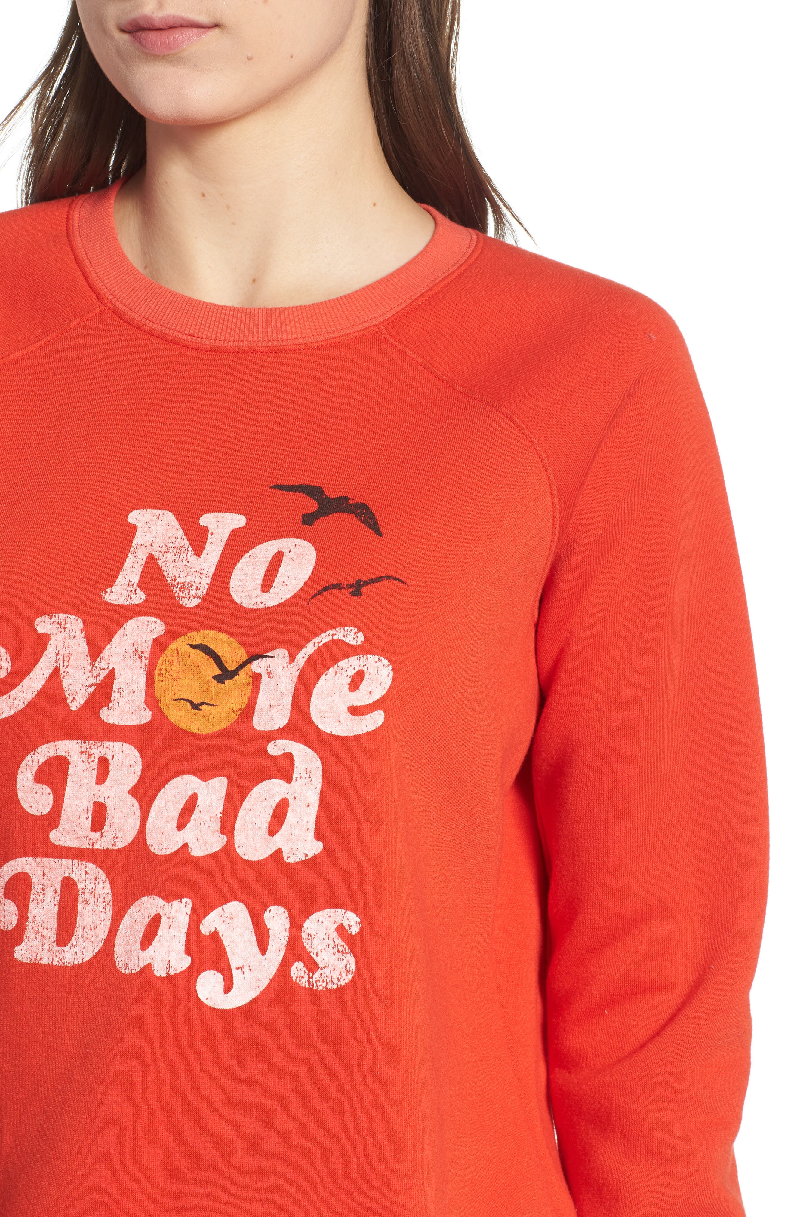 No Bad Days Sweatshirt,                             Alternate thumbnail 4, color,                             607