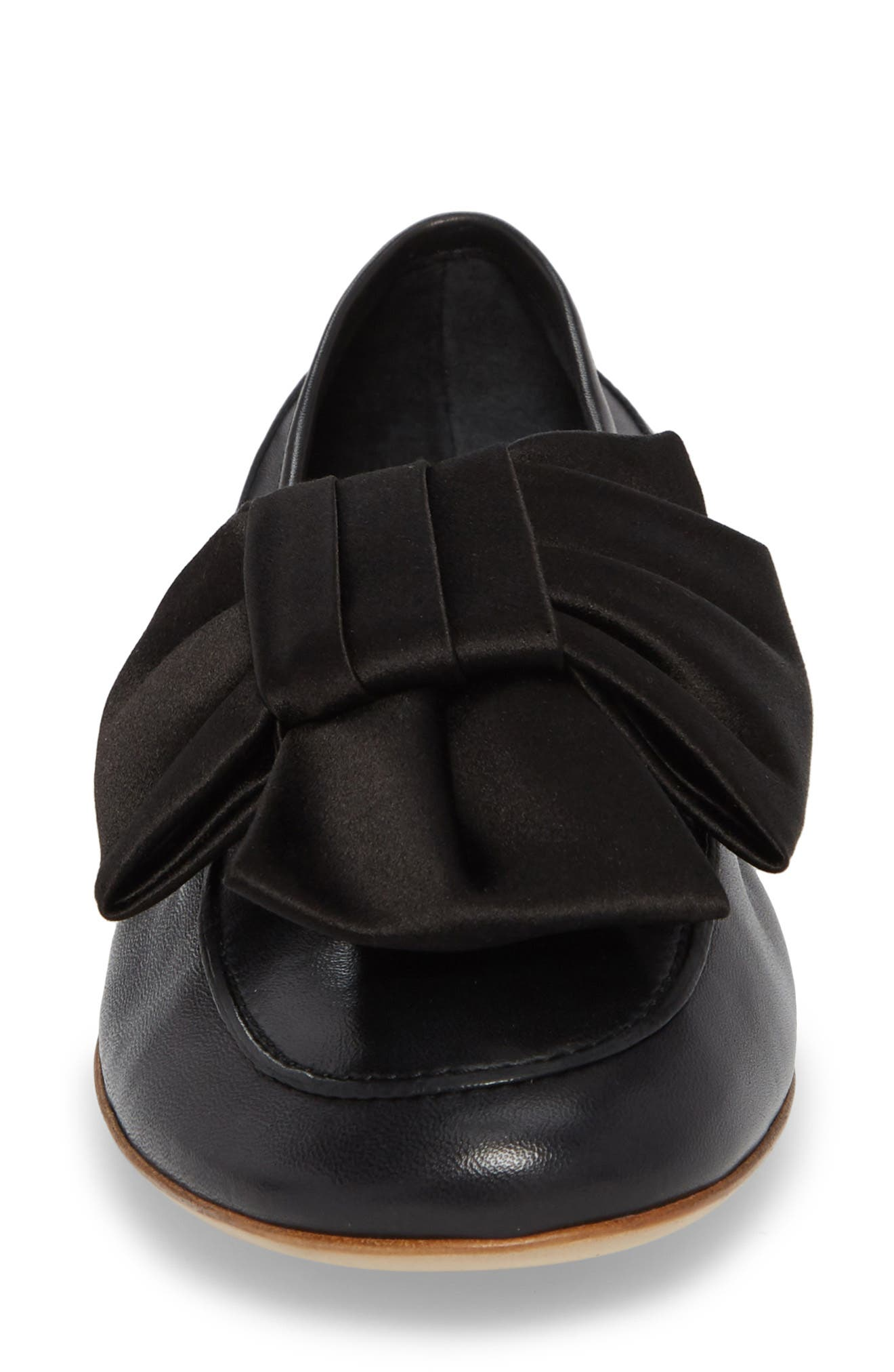 Bow Loafer,                             Alternate thumbnail 4, color,                             001