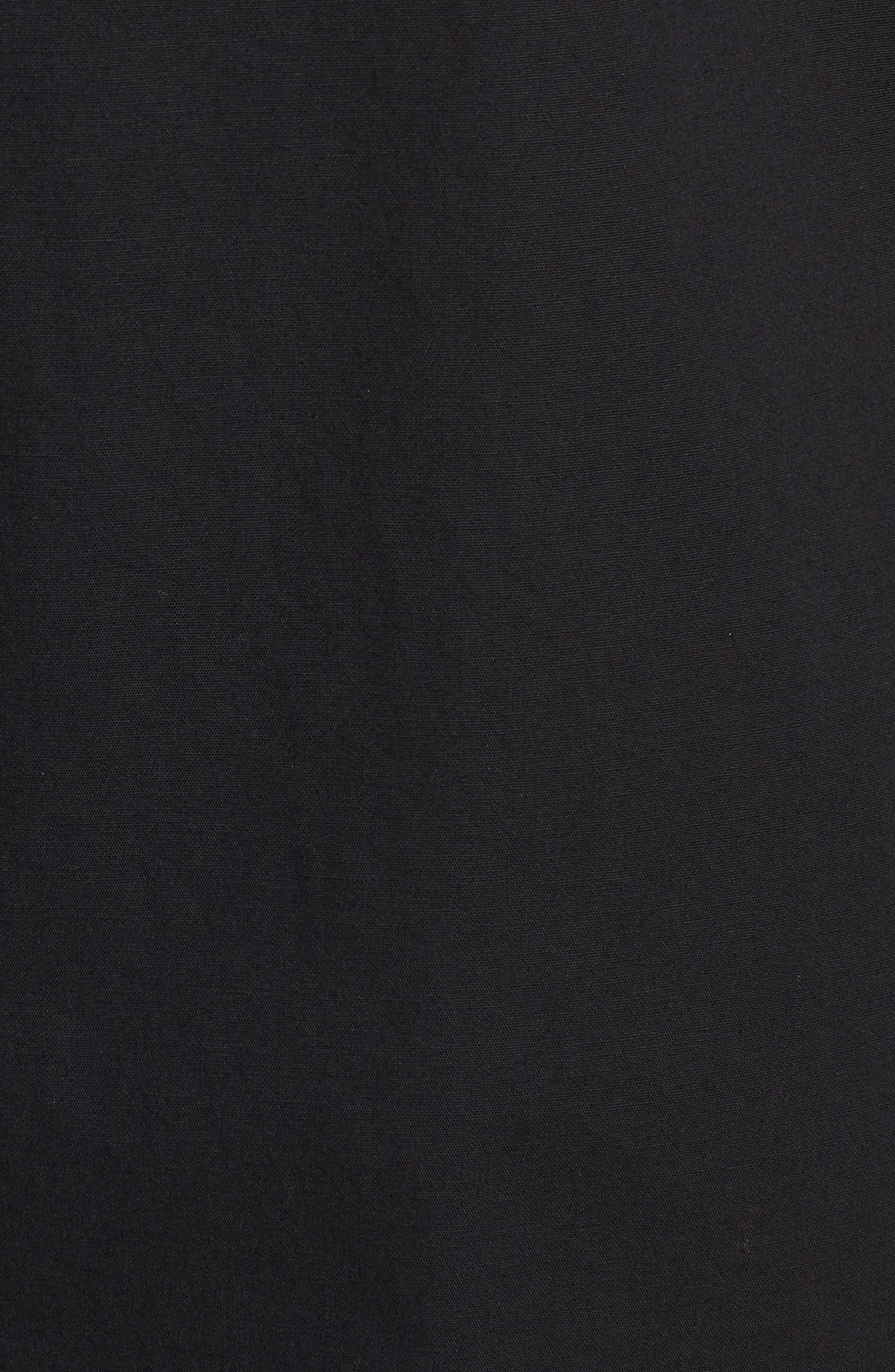 Organic Cotton Poplin Shirtdress,                             Alternate thumbnail 6, color,                             001