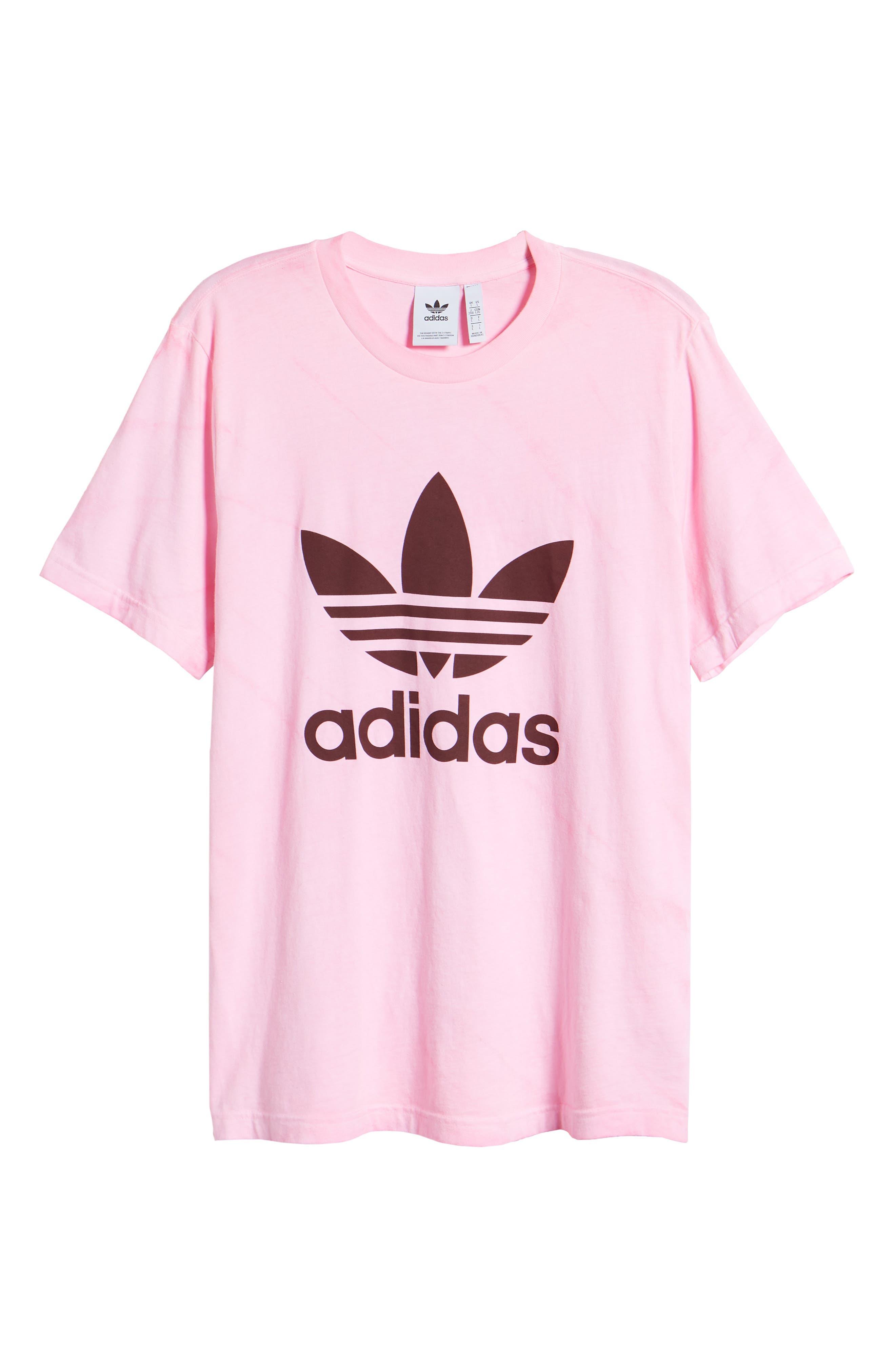 Adidas Tie Dye Logo T-Shirt, Pink