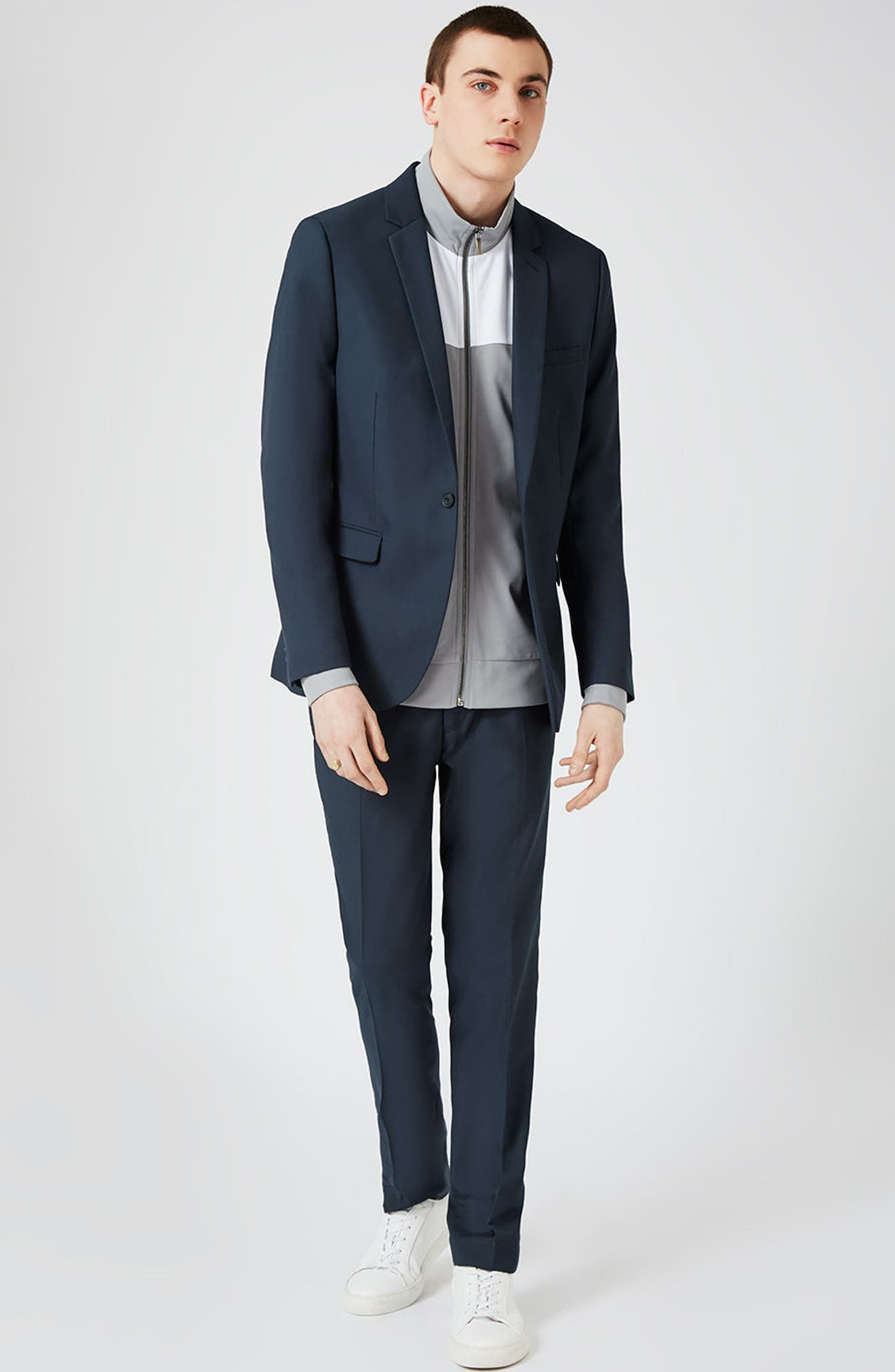 Skinny Fit Suit Jacket,                             Alternate thumbnail 10, color,                             420