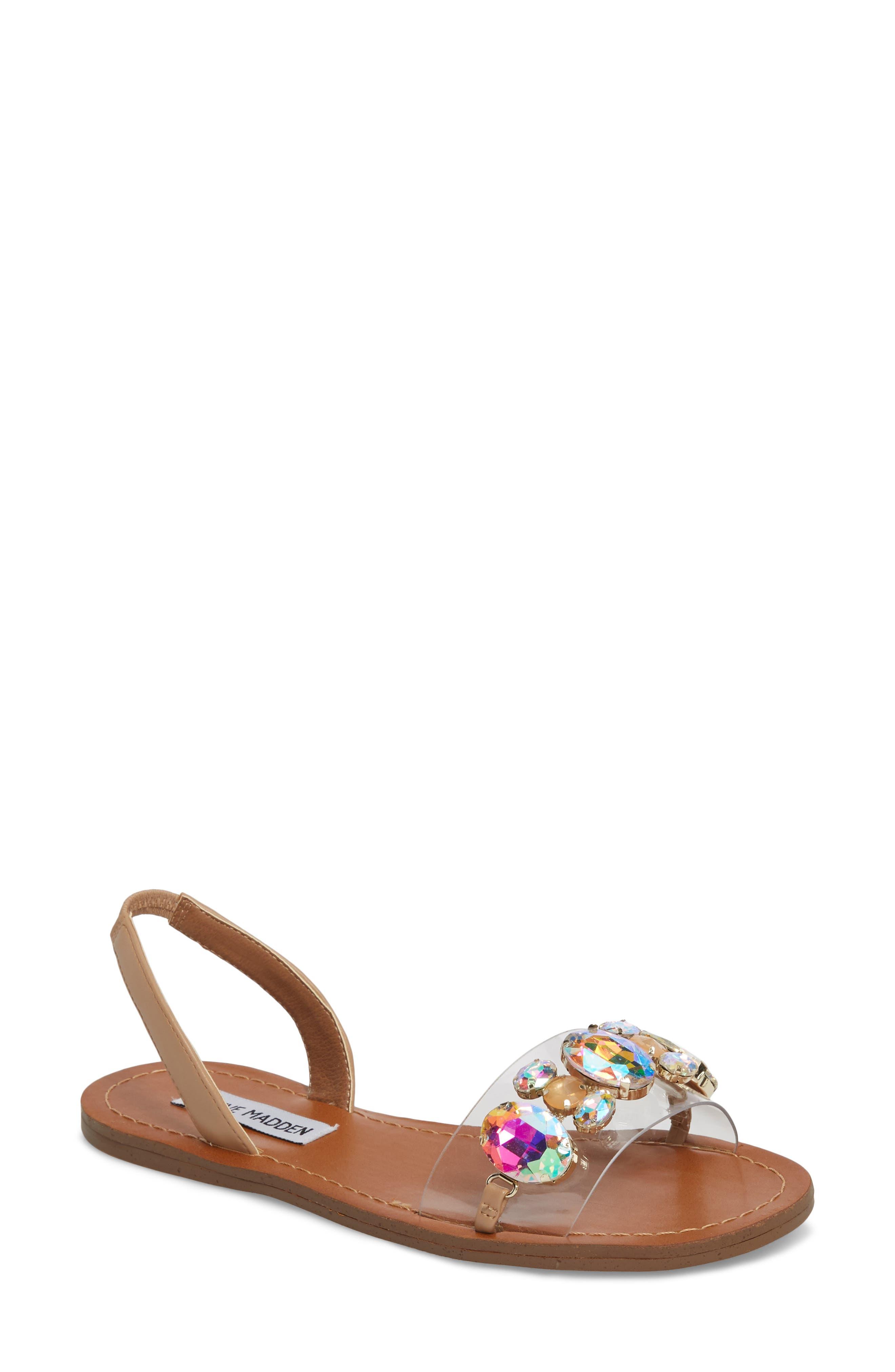 Alice Crystal Embellished Sandal,                             Main thumbnail 1, color,