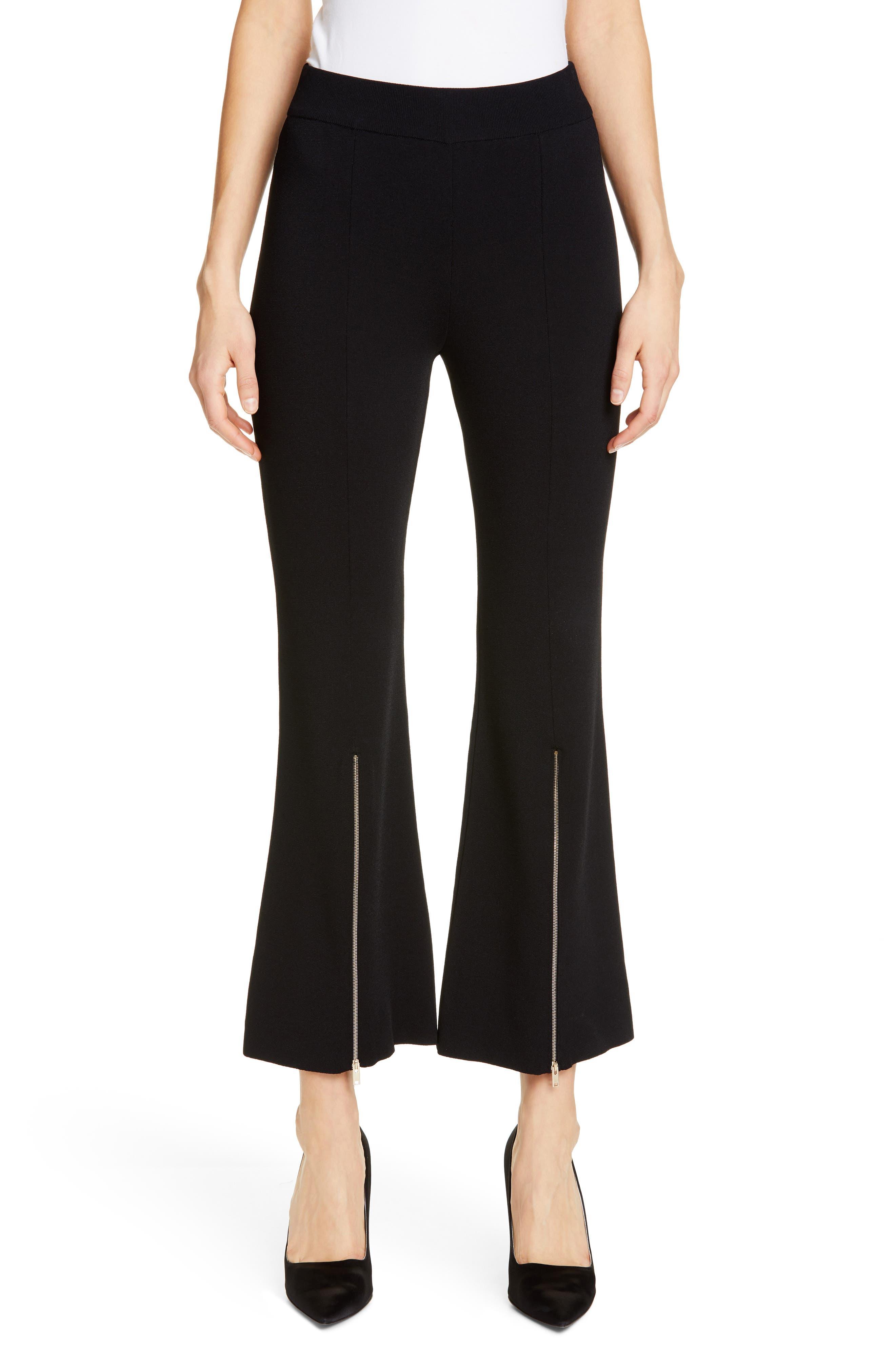 Stella Mccartney Zip Detail Crop Flare Pants, 4 IT - Black
