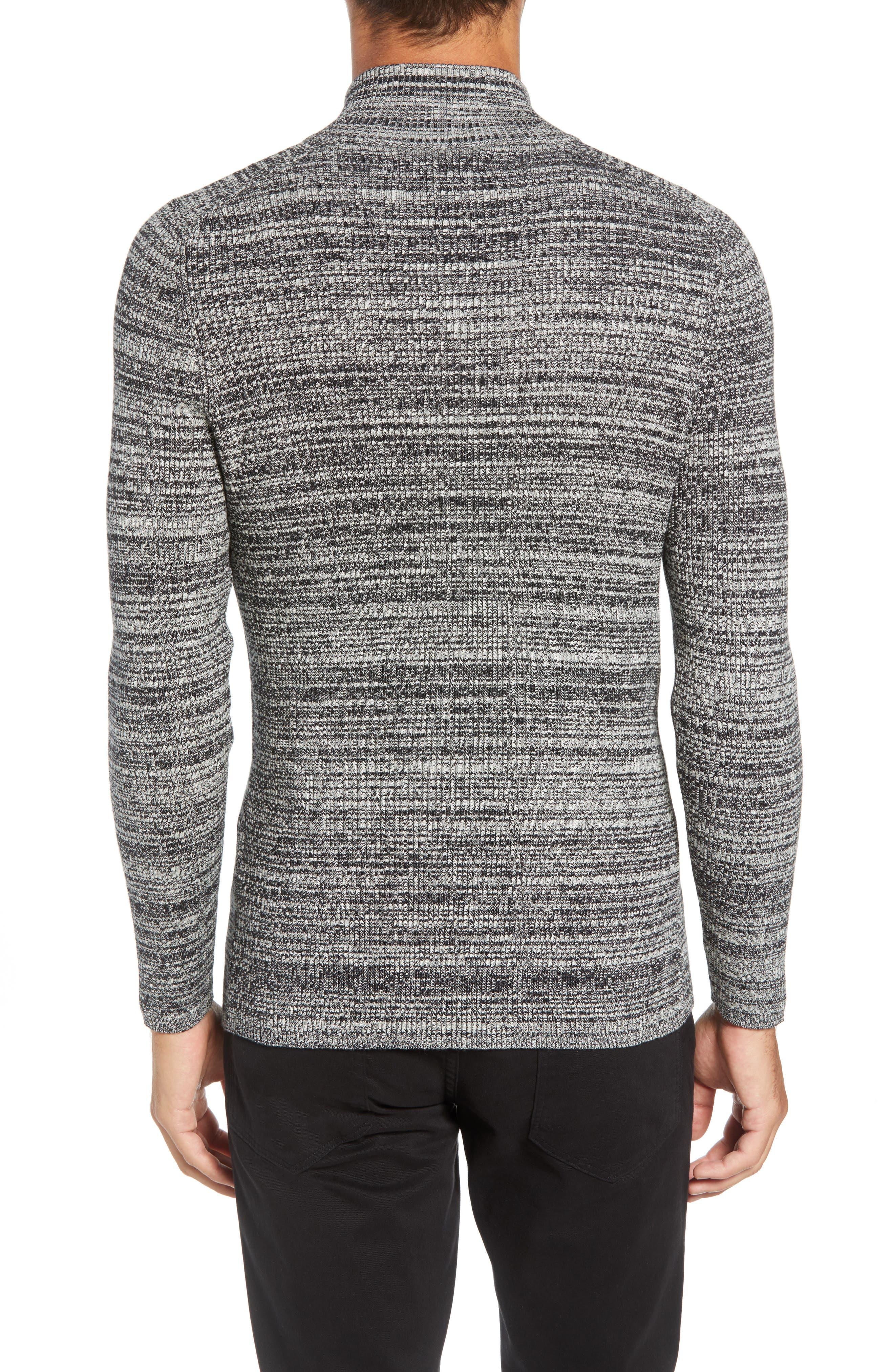 Vince Caumto Quarter Zip Mock Neck Sweater,                             Alternate thumbnail 2, color,                             GREY