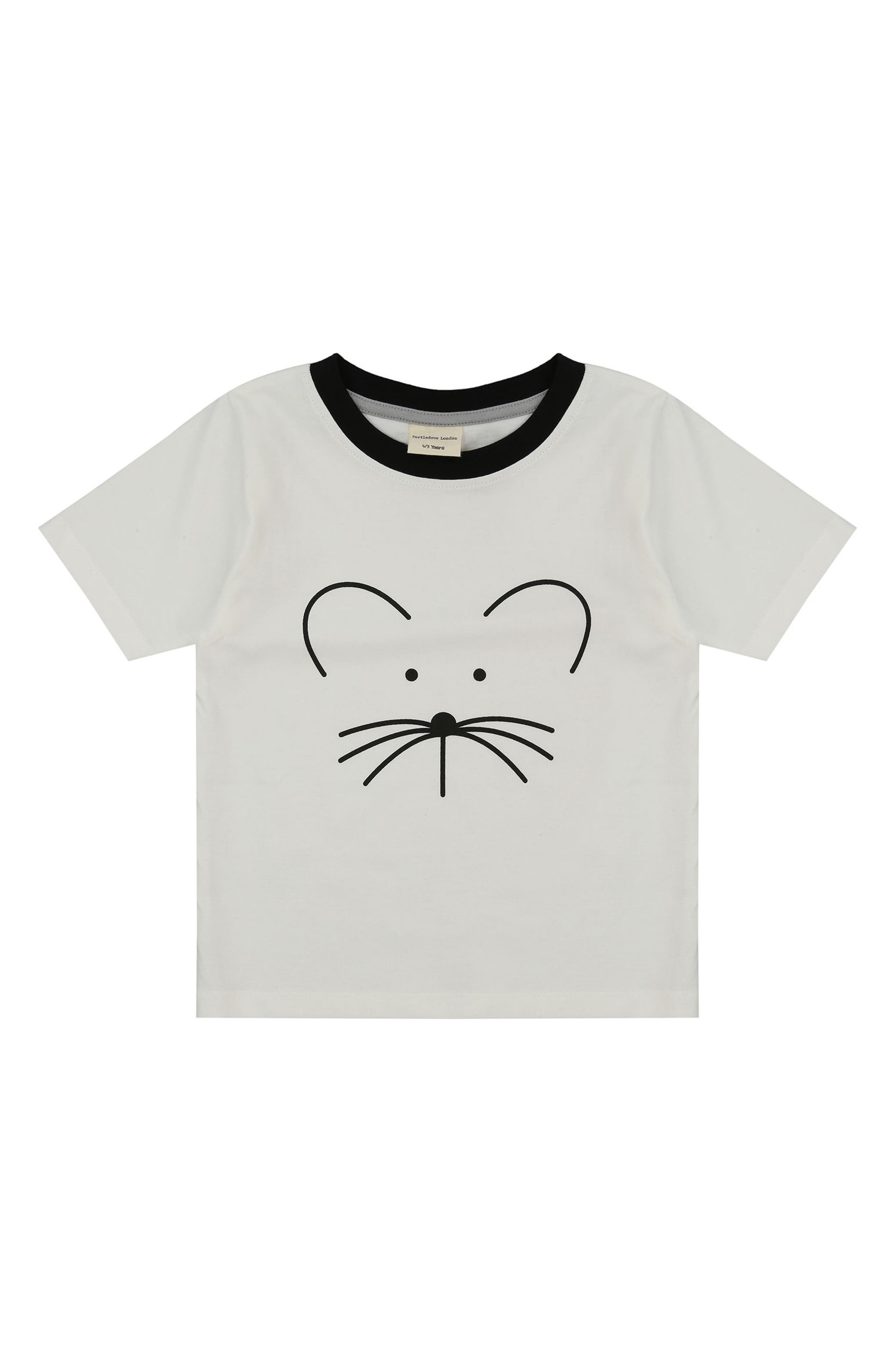 TURTLEDOVE LONDON,                             Goodbye Mousey Organic Cotton T-Shirt,                             Main thumbnail 1, color,                             100