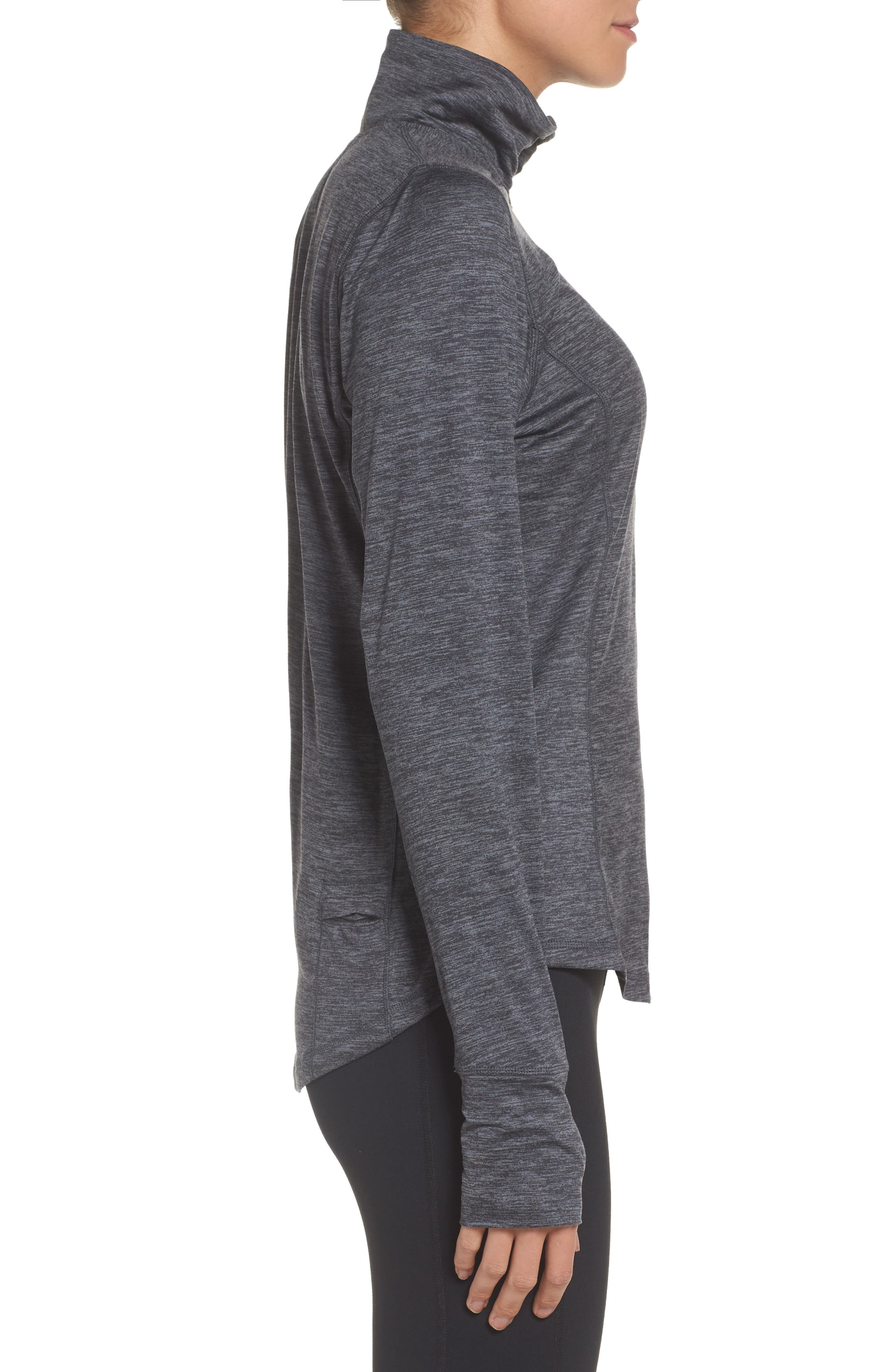 'Dash' Half Zip Jacket,                             Alternate thumbnail 3, color,                             HEATHER ASPHALT