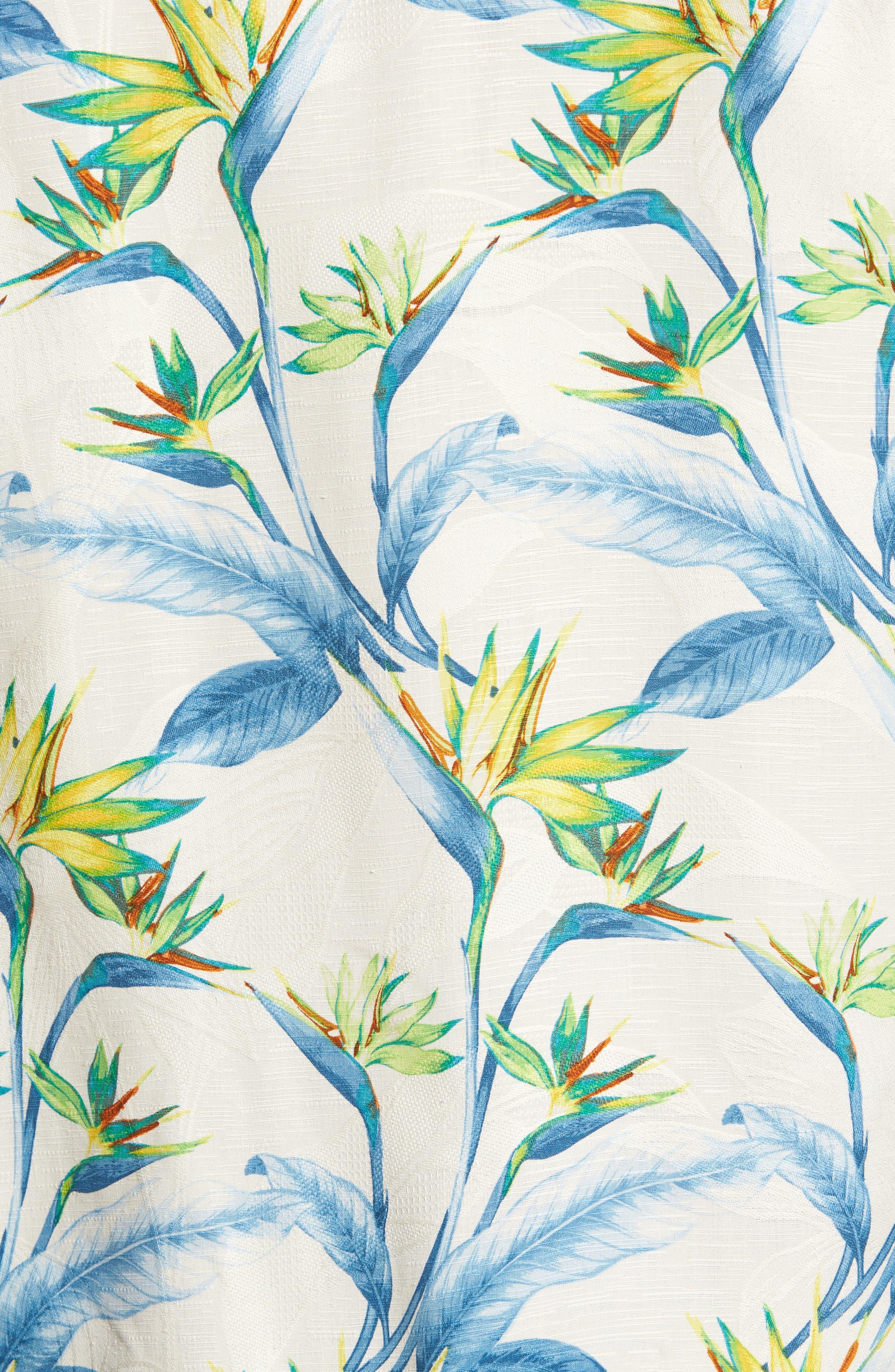 Porto de Paradise Silk Sport Shirt,                             Alternate thumbnail 5, color,                             100