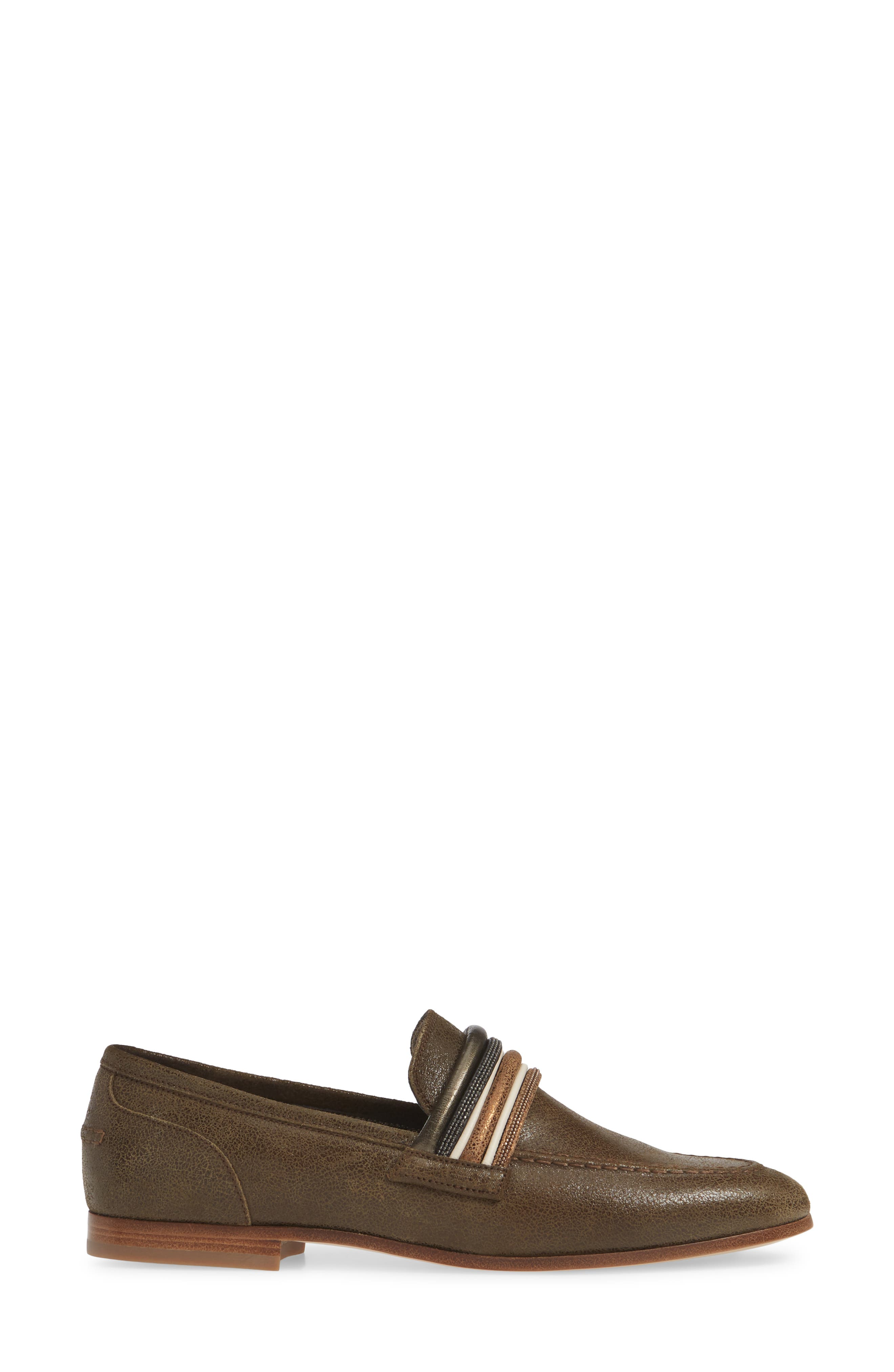 Tubular Loafer,                             Alternate thumbnail 3, color,                             MUD BROWN