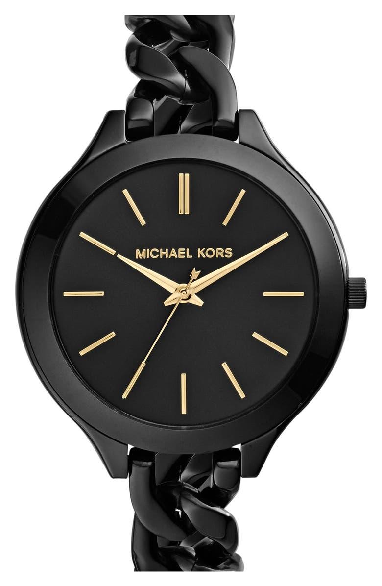 Michael Kors Slim Runway Chain Bracelet Watch 42mm