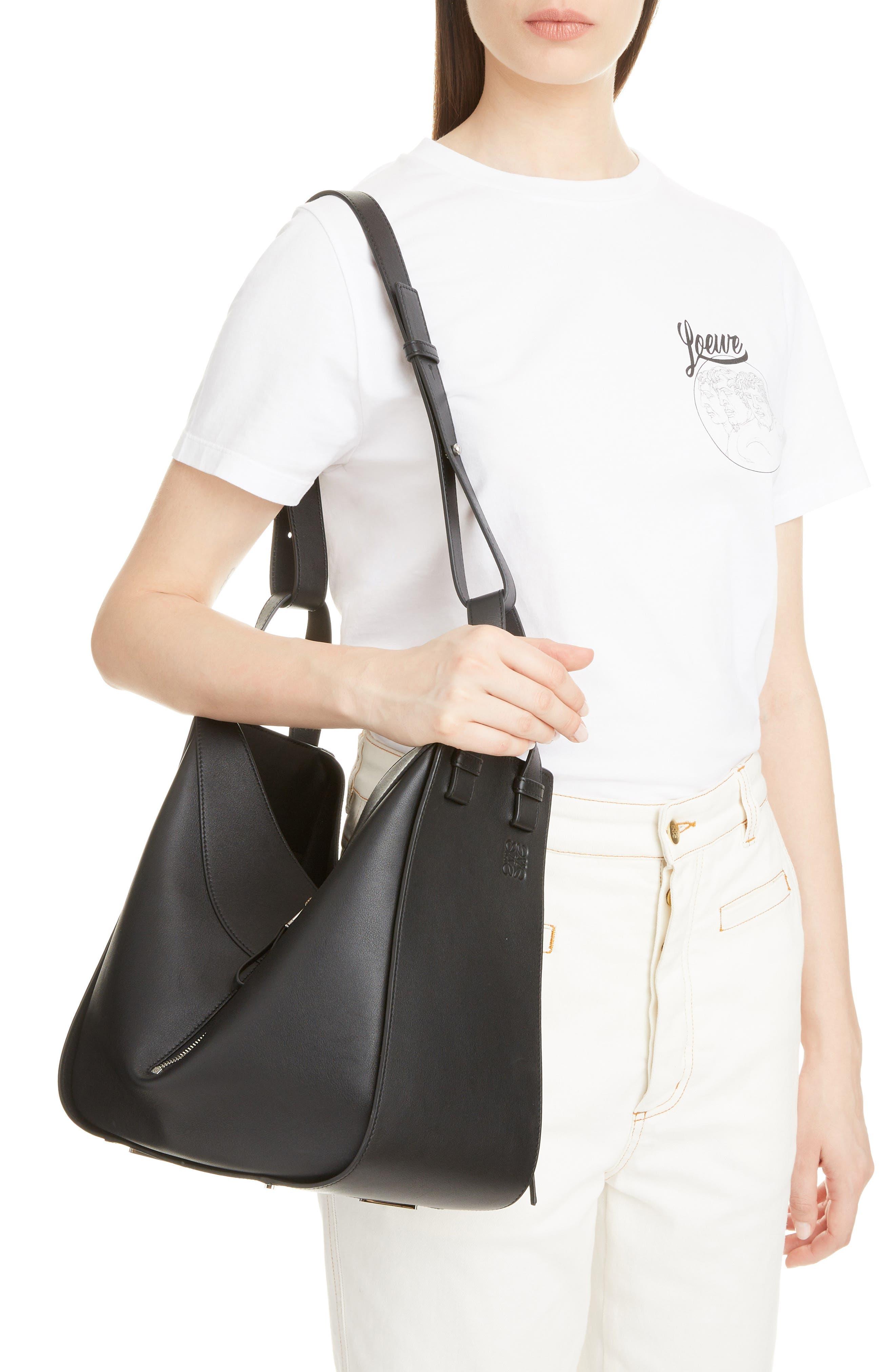 Medium Hammock Calfskin Leather Shoulder Bag,                             Alternate thumbnail 2, color,                             BLACK
