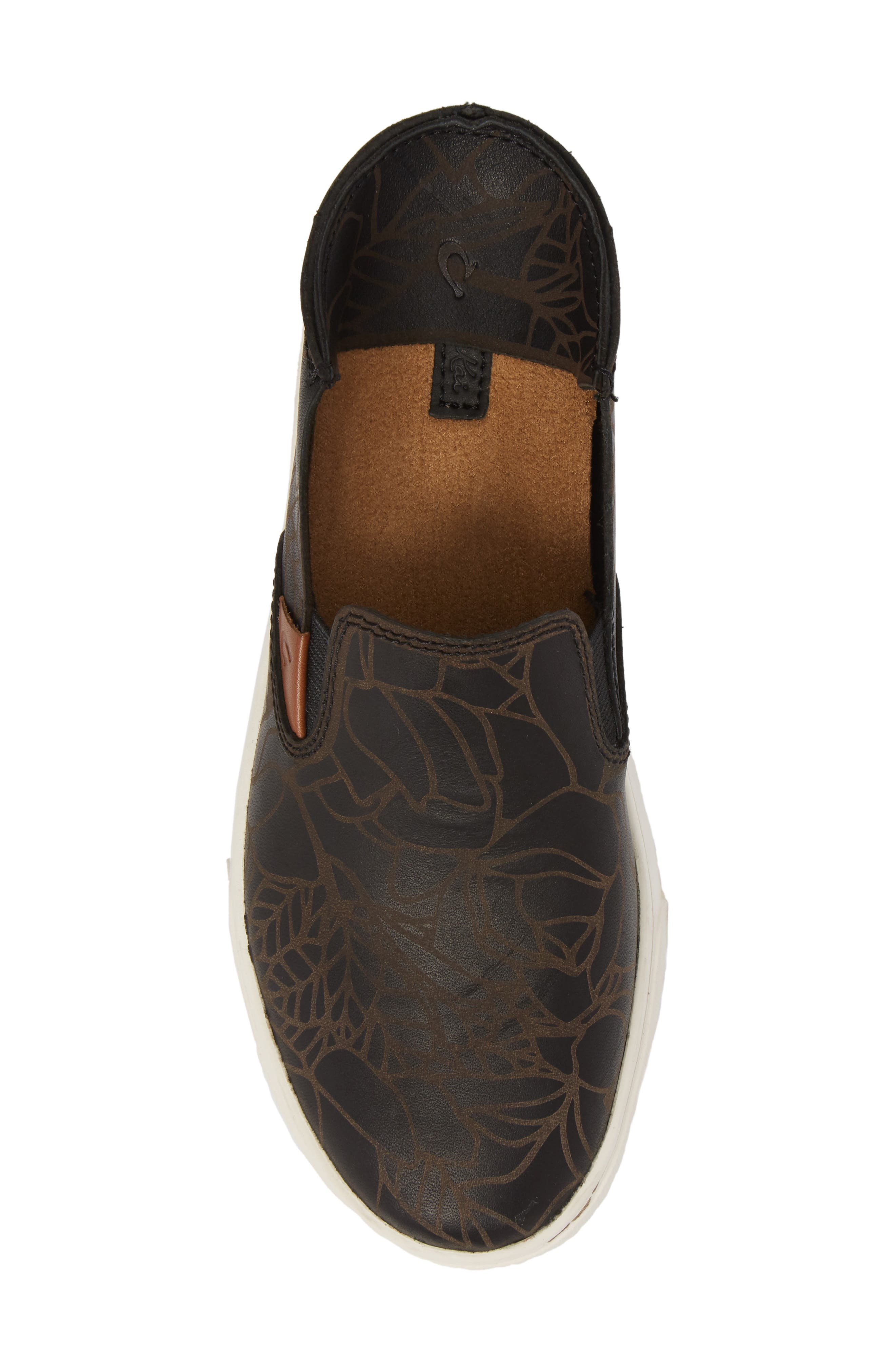 Pehuea Lau Slip-On Sneaker,                             Alternate thumbnail 6, color,                             BLACK/ BLACK FABRIC