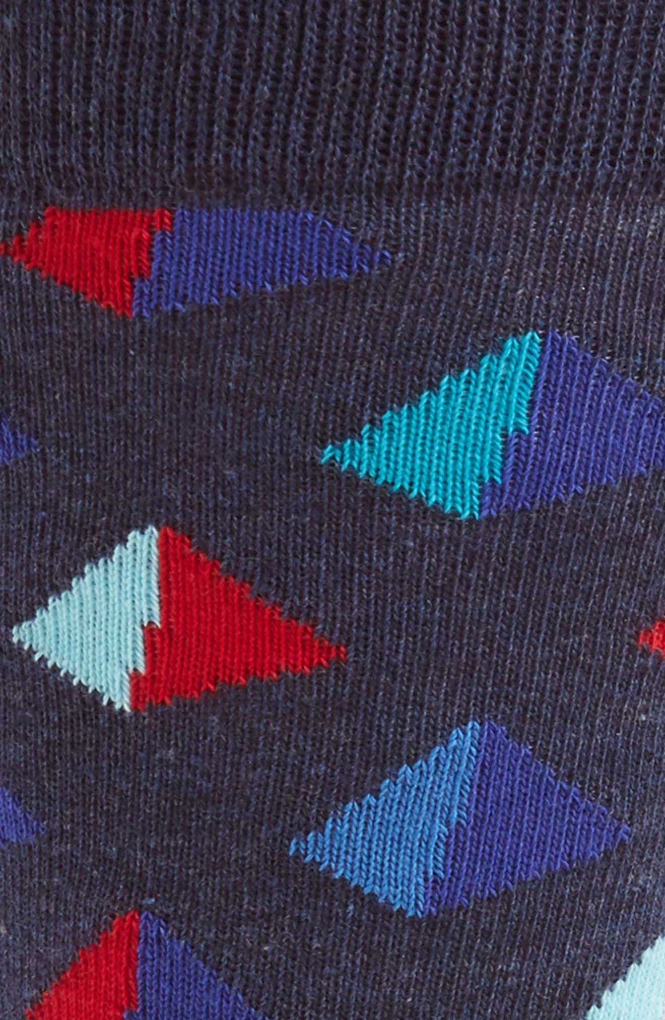Pyramid Socks,                             Alternate thumbnail 2, color,                             NAVY MULTI