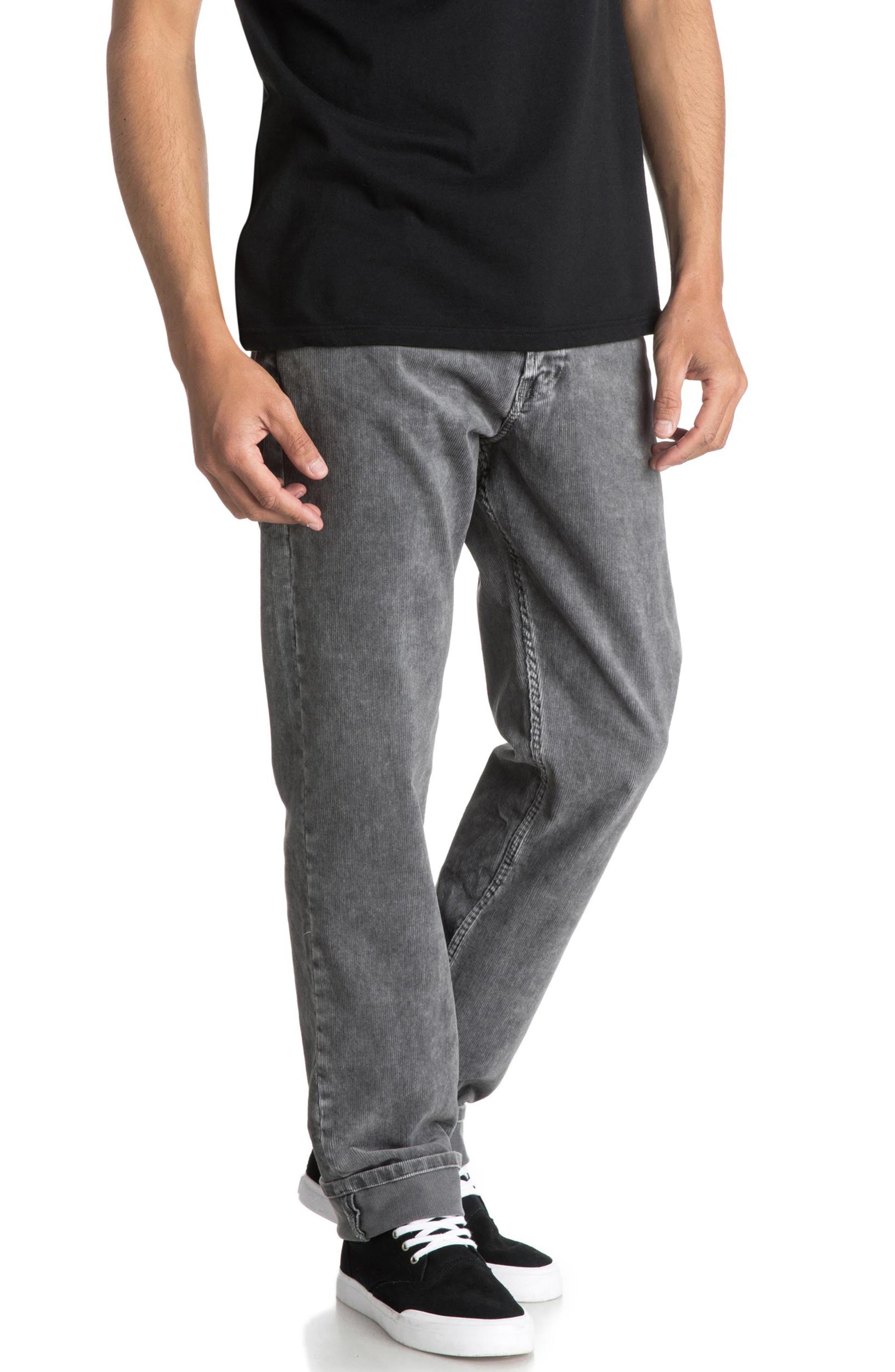 QUIKSILVER Kracker Straight Fit Corduroy Pants, Main, color, 020
