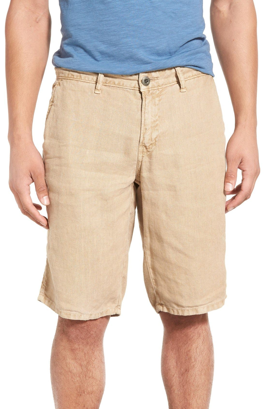 'Havana' Linen Shorts,                             Main thumbnail 6, color,