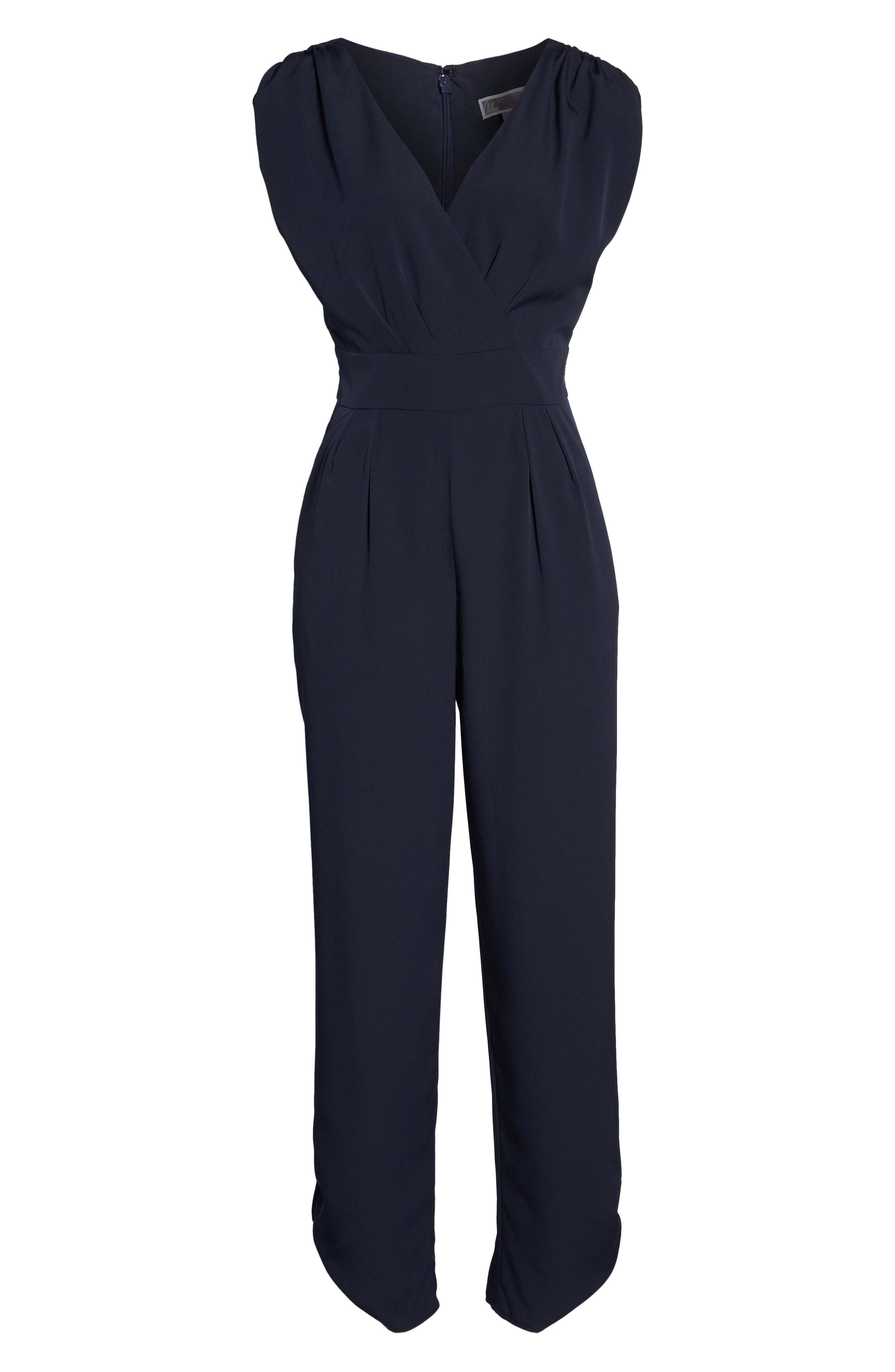 Ruched Ankle Jumpsuit,                             Alternate thumbnail 8, color,                             410