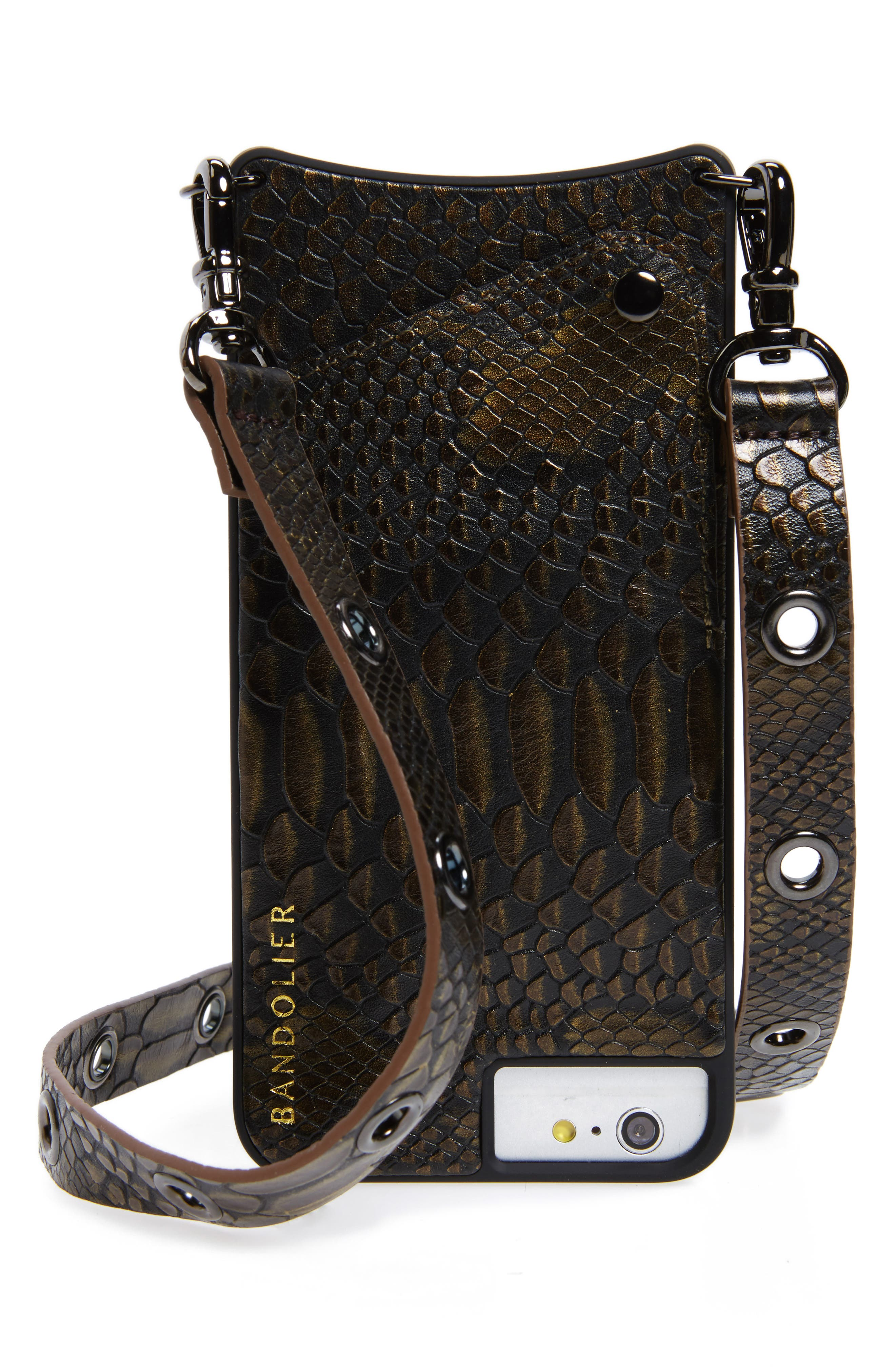 Roxanne Leather iPhone 6/7/8 & 6/7/8 Plus Crossbody Case,                             Main thumbnail 1, color,                             200