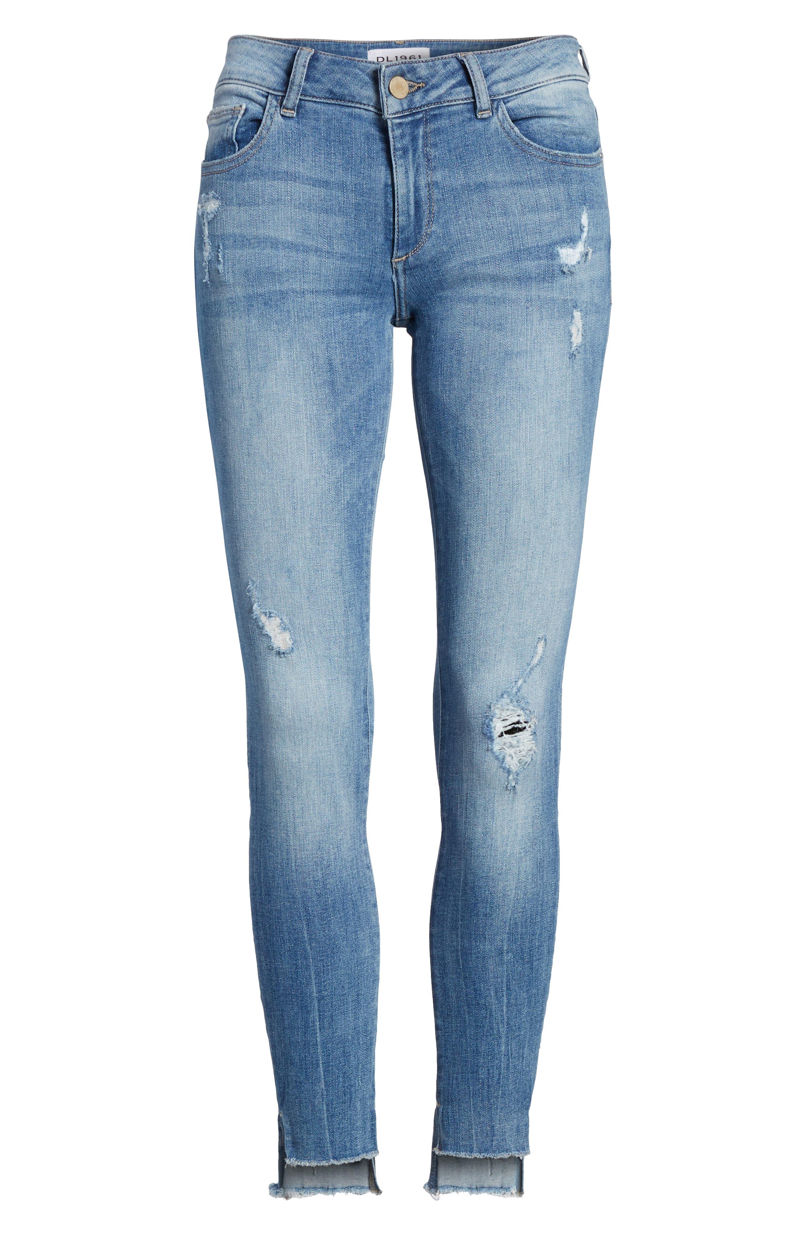 Emma Power Legging Skinny Jeans,                             Alternate thumbnail 6, color,                             MELBOURNE