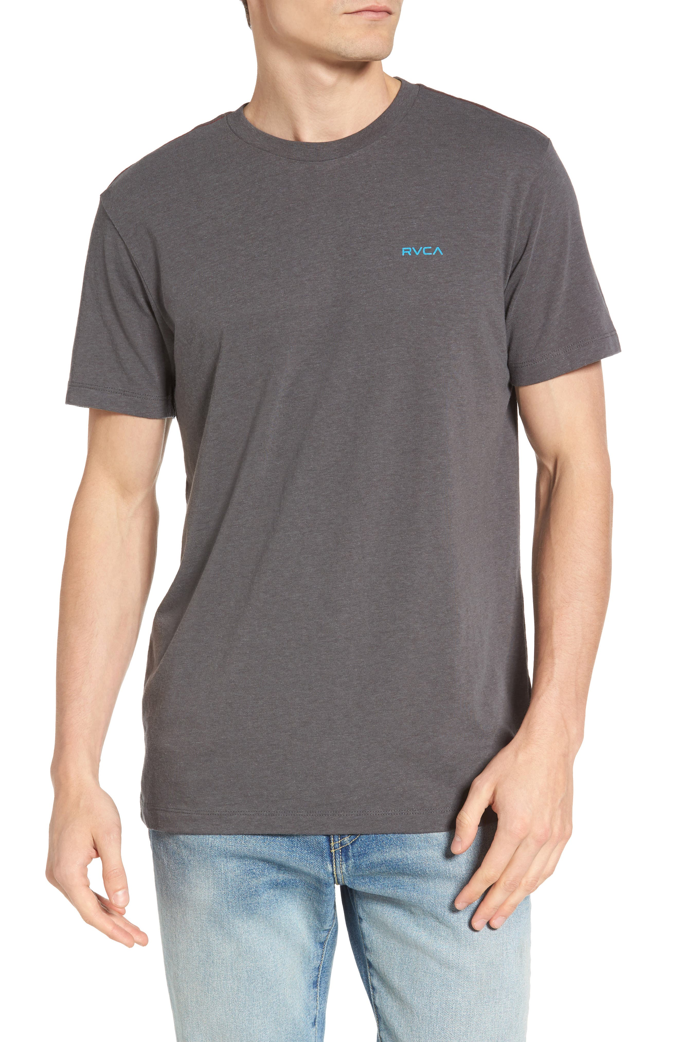 Small RVCA Chest Graphic T-Shirt,                         Main,                         color, 076