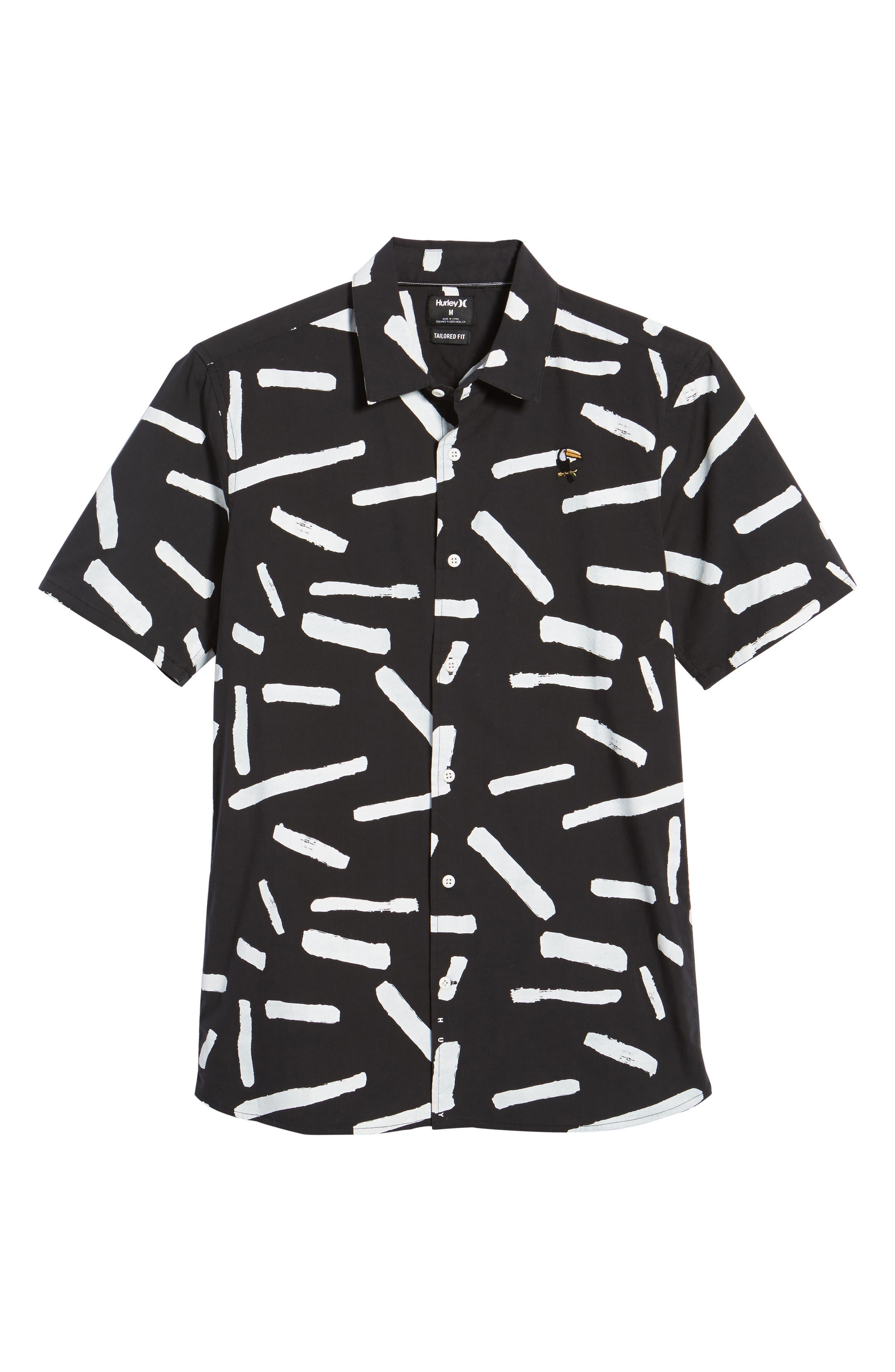 Print Short Sleeve Shirt,                             Alternate thumbnail 17, color,