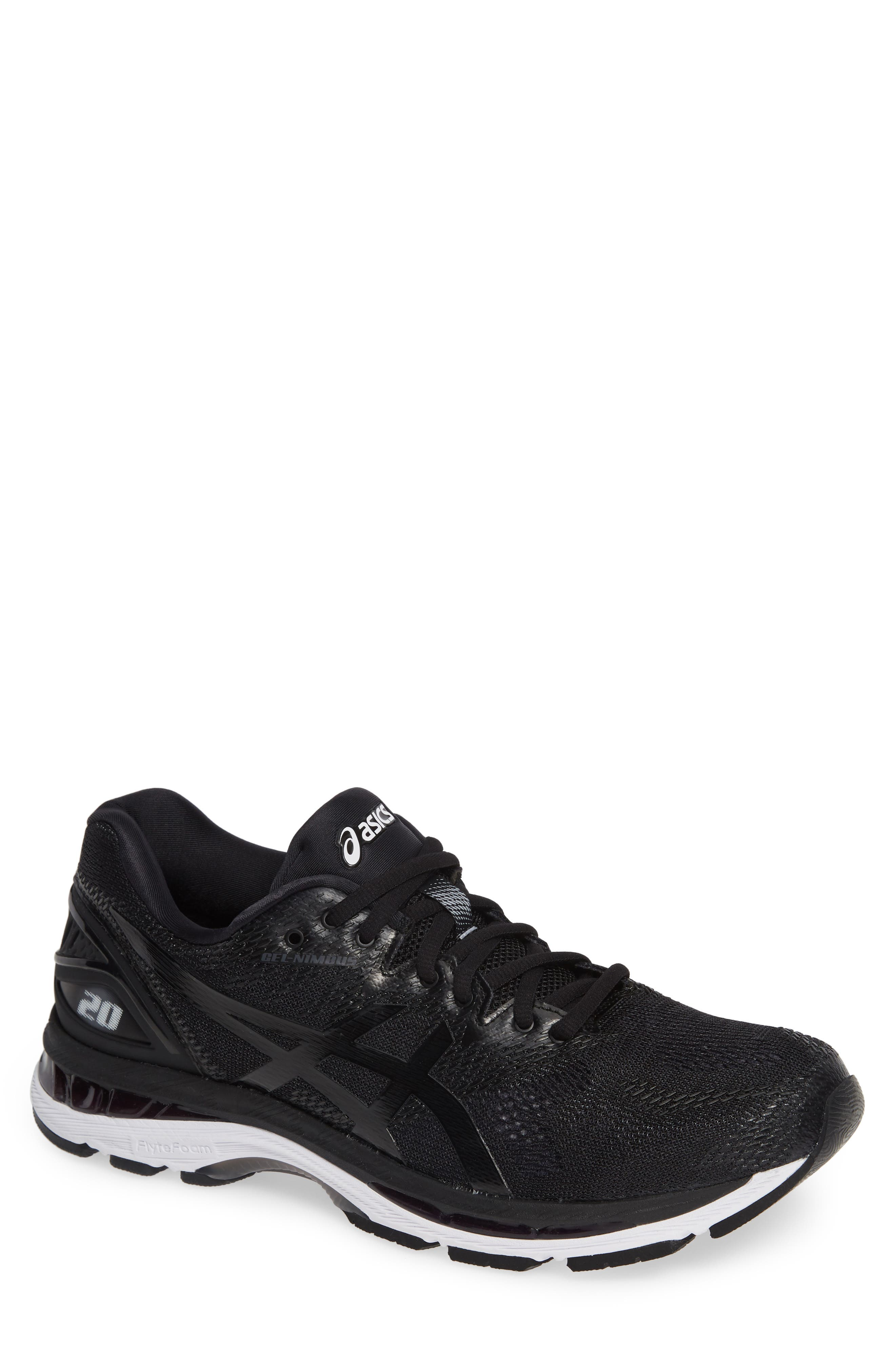 GEL<sup>®</sup>-Nimbus 20 Running Shoe,                             Main thumbnail 1, color,                             BLACK/ WHITE/ CARBON